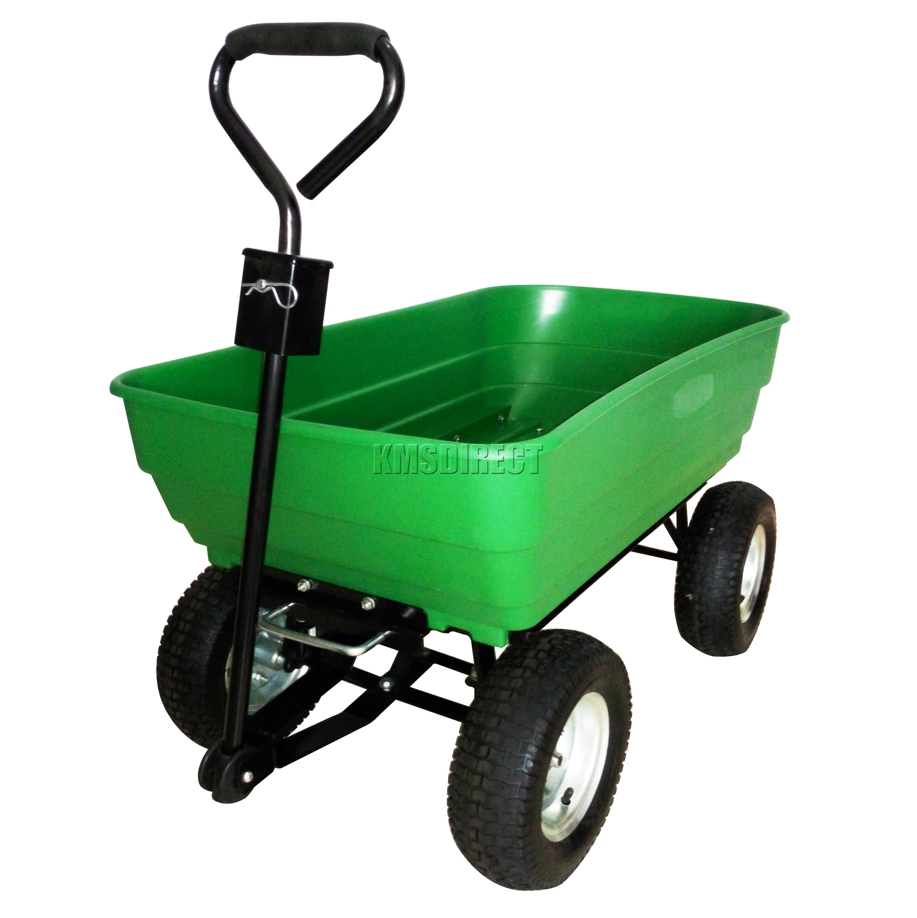Foxhunter Garden Dump Truck Tipping Trailer Trolley Cart