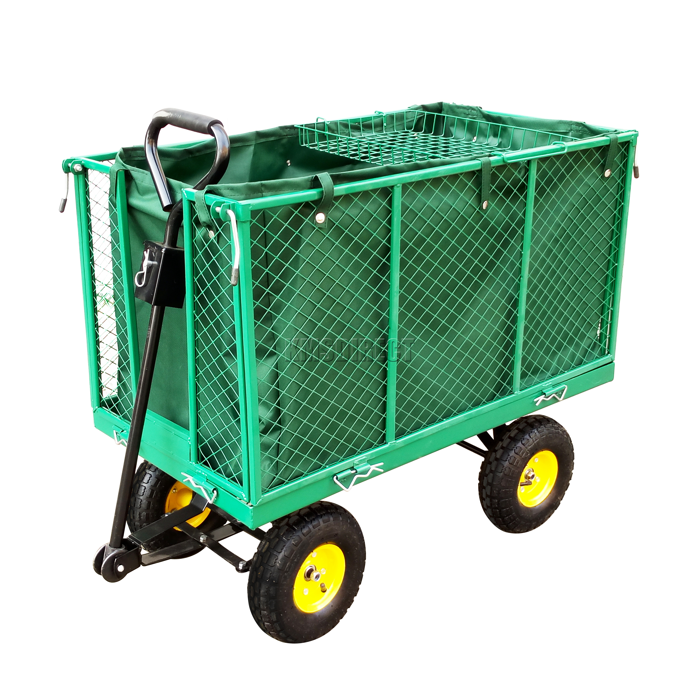 Foxhunter Heavy Duty Medium Size Garden Trolley Cart