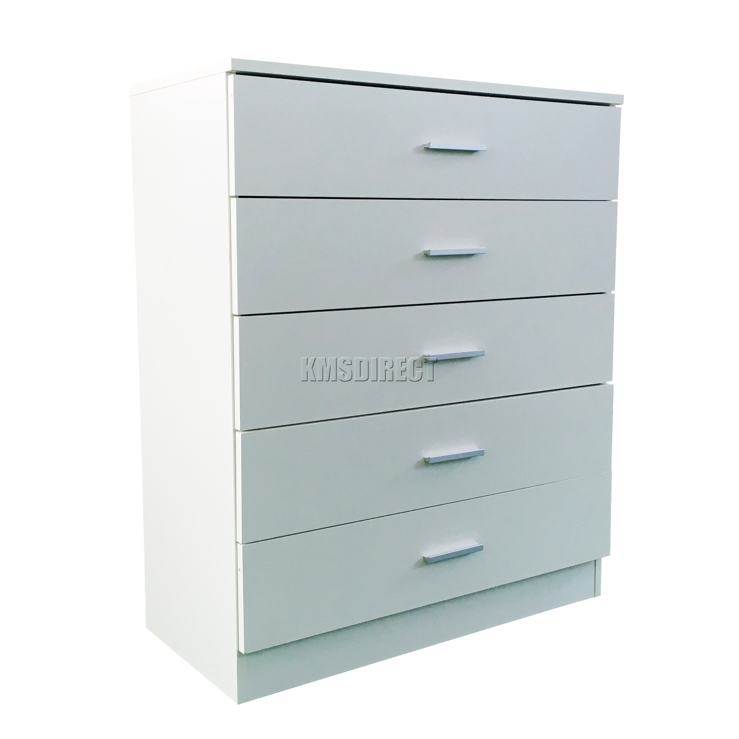 wooden cabinet with 5 drawer storage chest office organizer white new