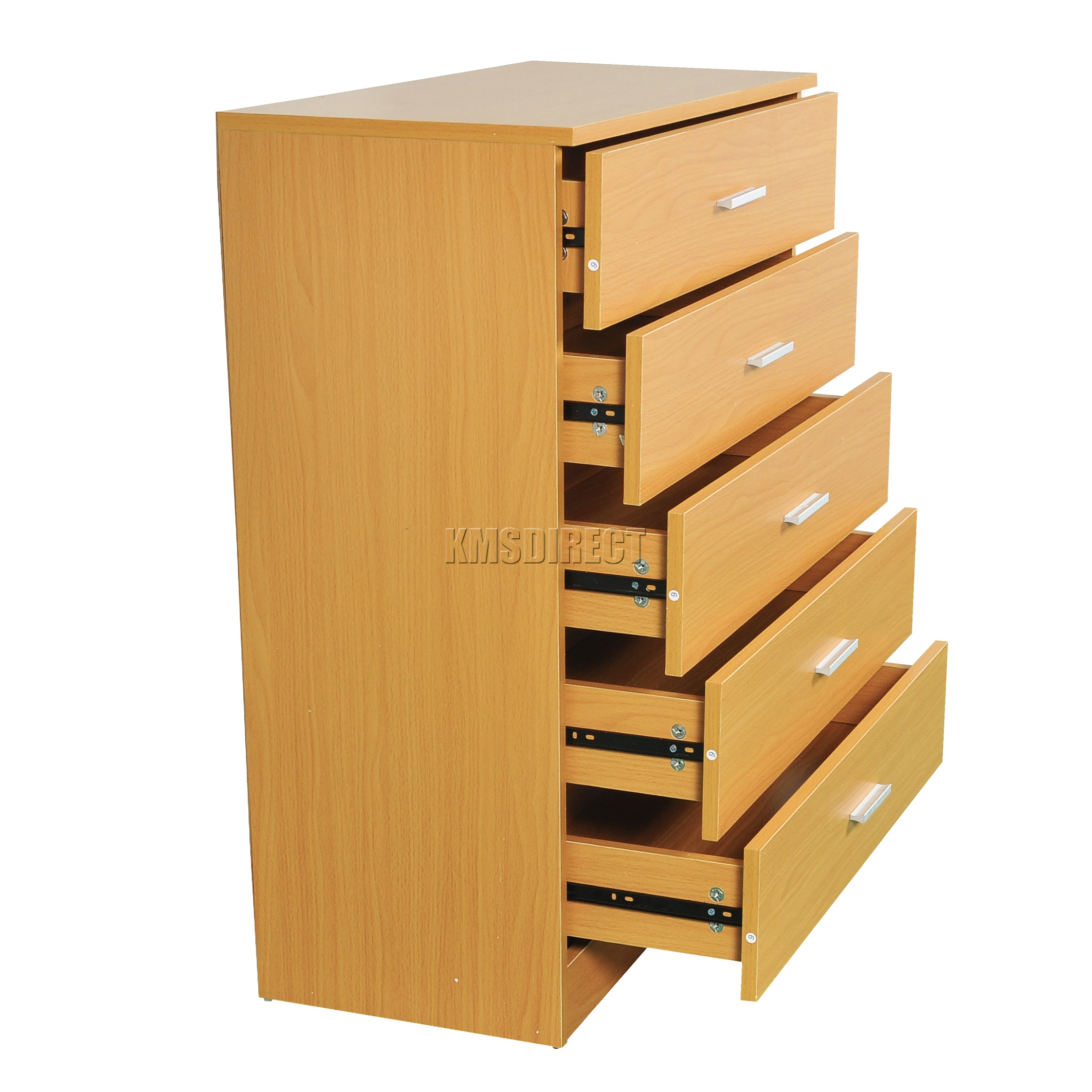 Bedroom Drawer Organizer: FoxHunter Wooden Cabinet With 5 Drawer Bedroom Storage