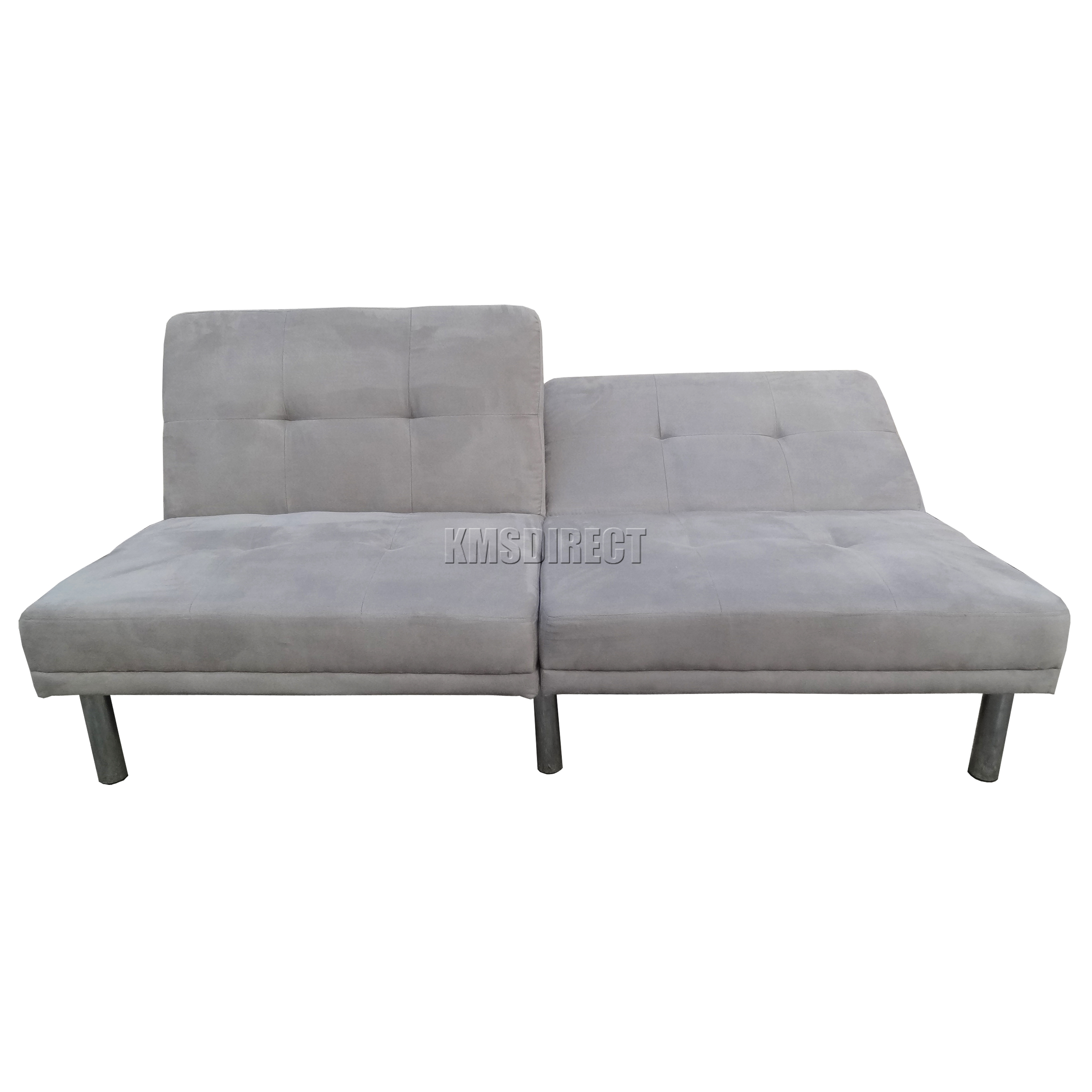 FoxHunter Fabric Faux Suede Sofa Bed Recliner 2 Seater Modern