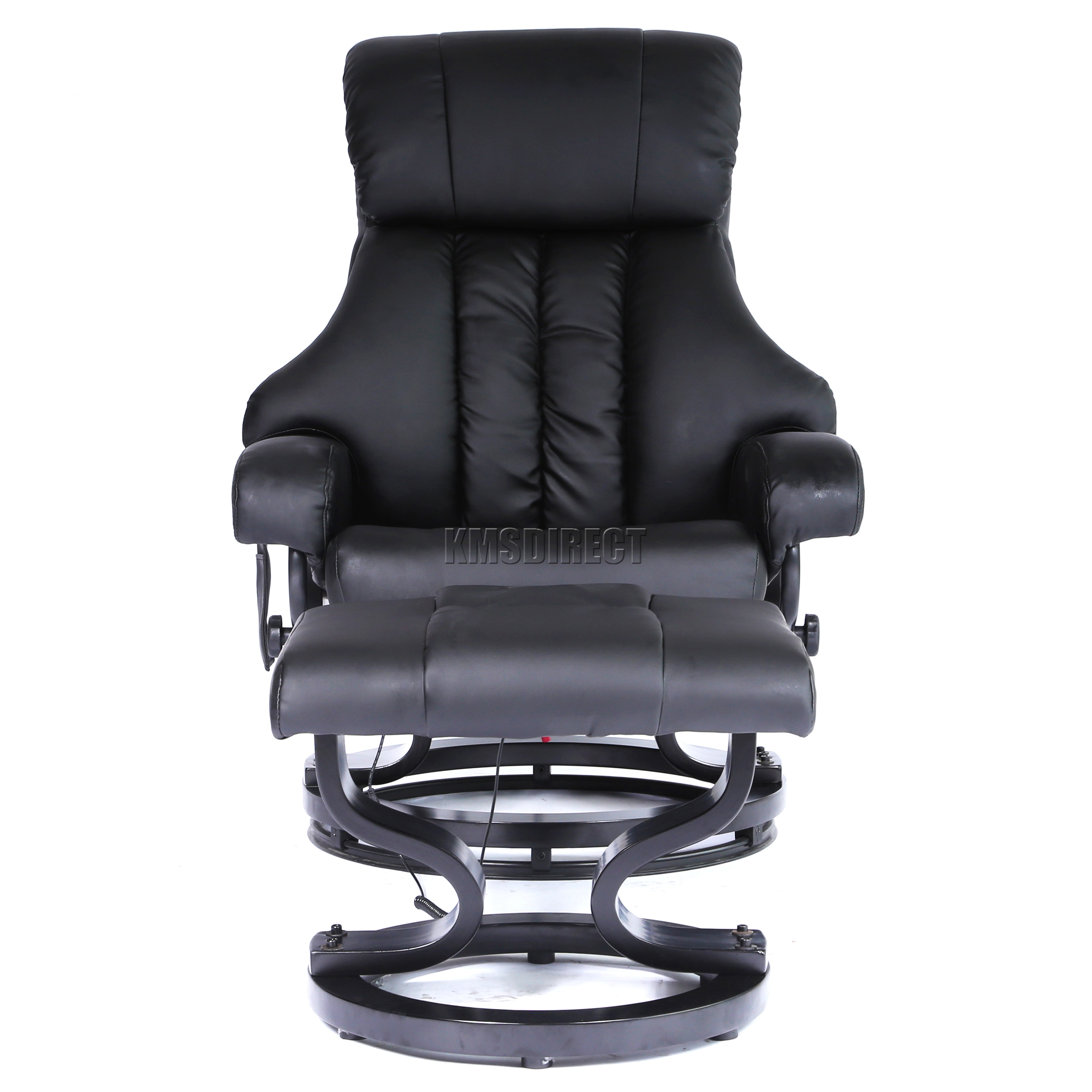 FoxHunter Faux Leather Massage Chair Recliner Sofa