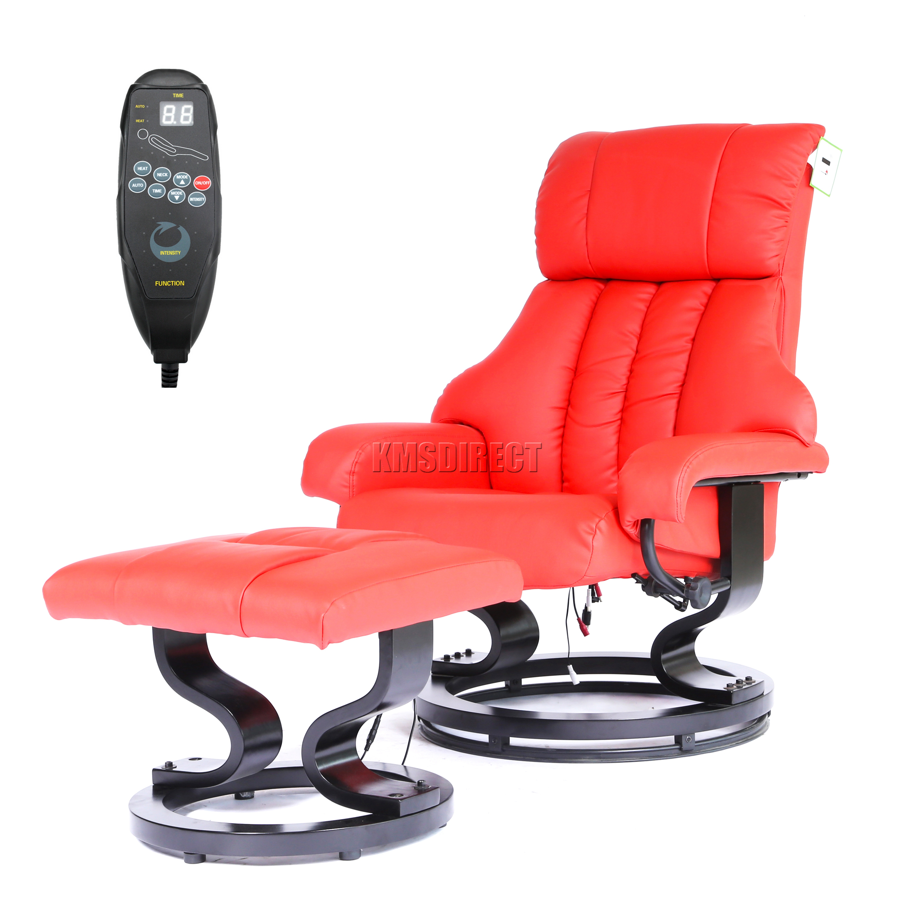 FoxHunter Faux Leather Massage Chair Recliner Sofa Armchair With