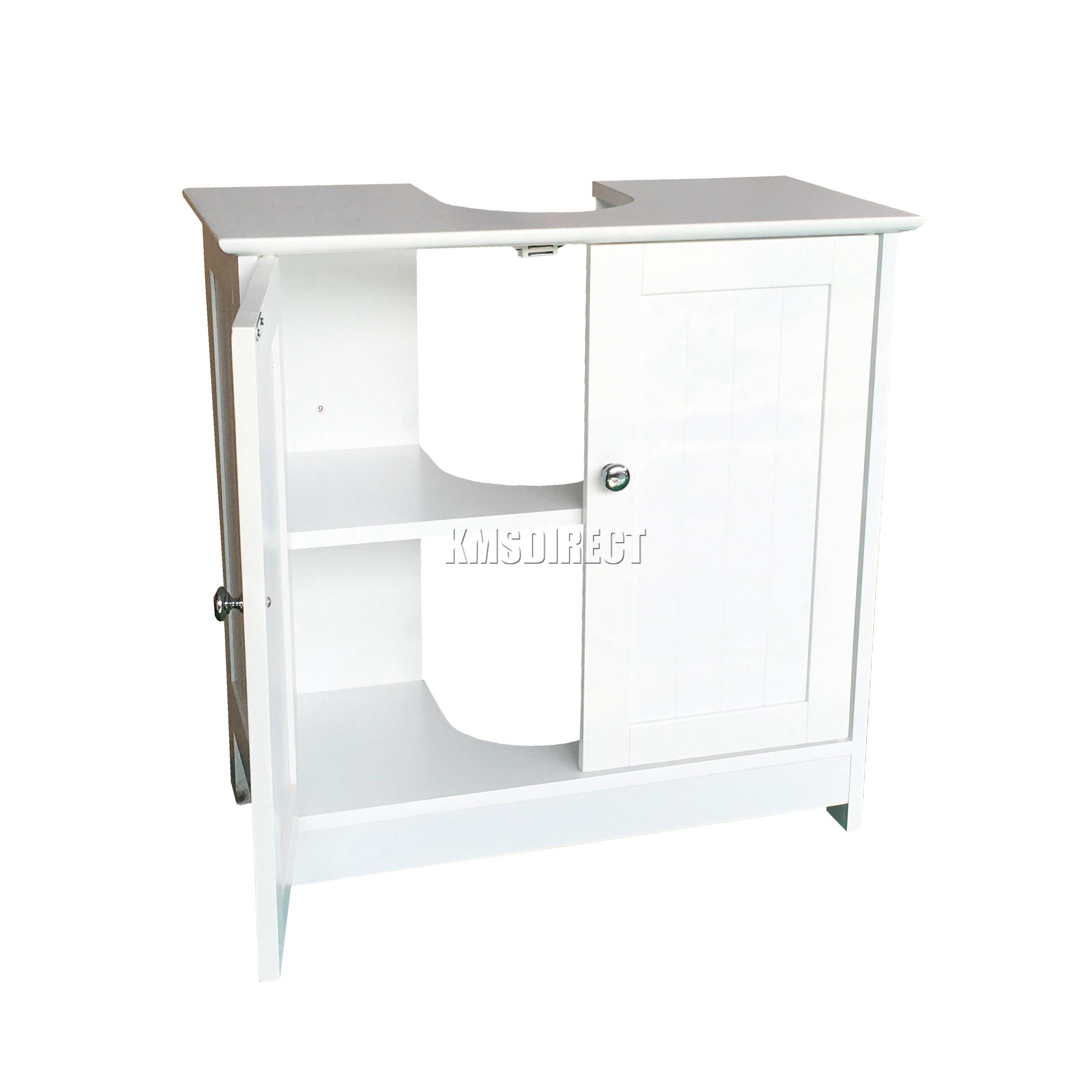 Foxhunter Vanity Unit Wooden Under Wash Basin Bathroom Cabinet Storage Cupboard Ebay