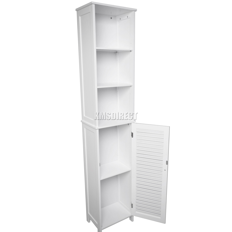 foxhunter wall mount wooden bathroom cabinet tall shelving. Black Bedroom Furniture Sets. Home Design Ideas