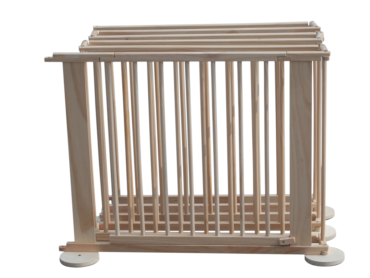 6 Side Baby Child Wooden Foldable Playpen Play Pen Room