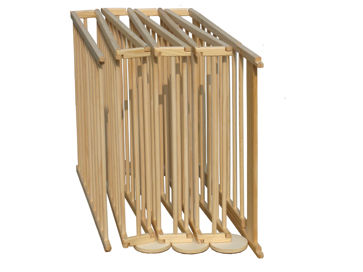 8 Side Baby Child Wooden Foldable Playpen Play Pen Room
