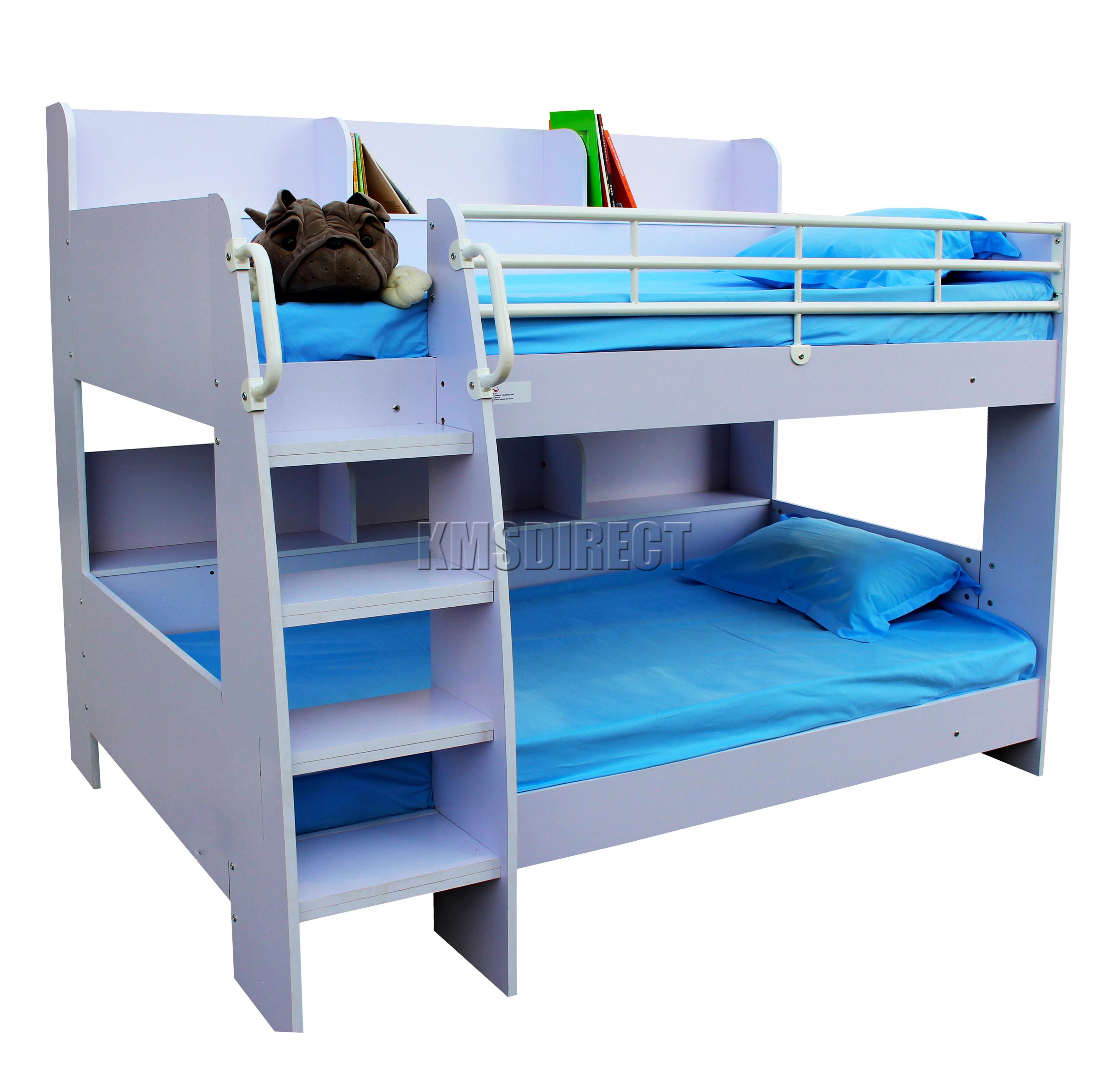 foxhunter mdf wooden frame bunk bed single 3ft with