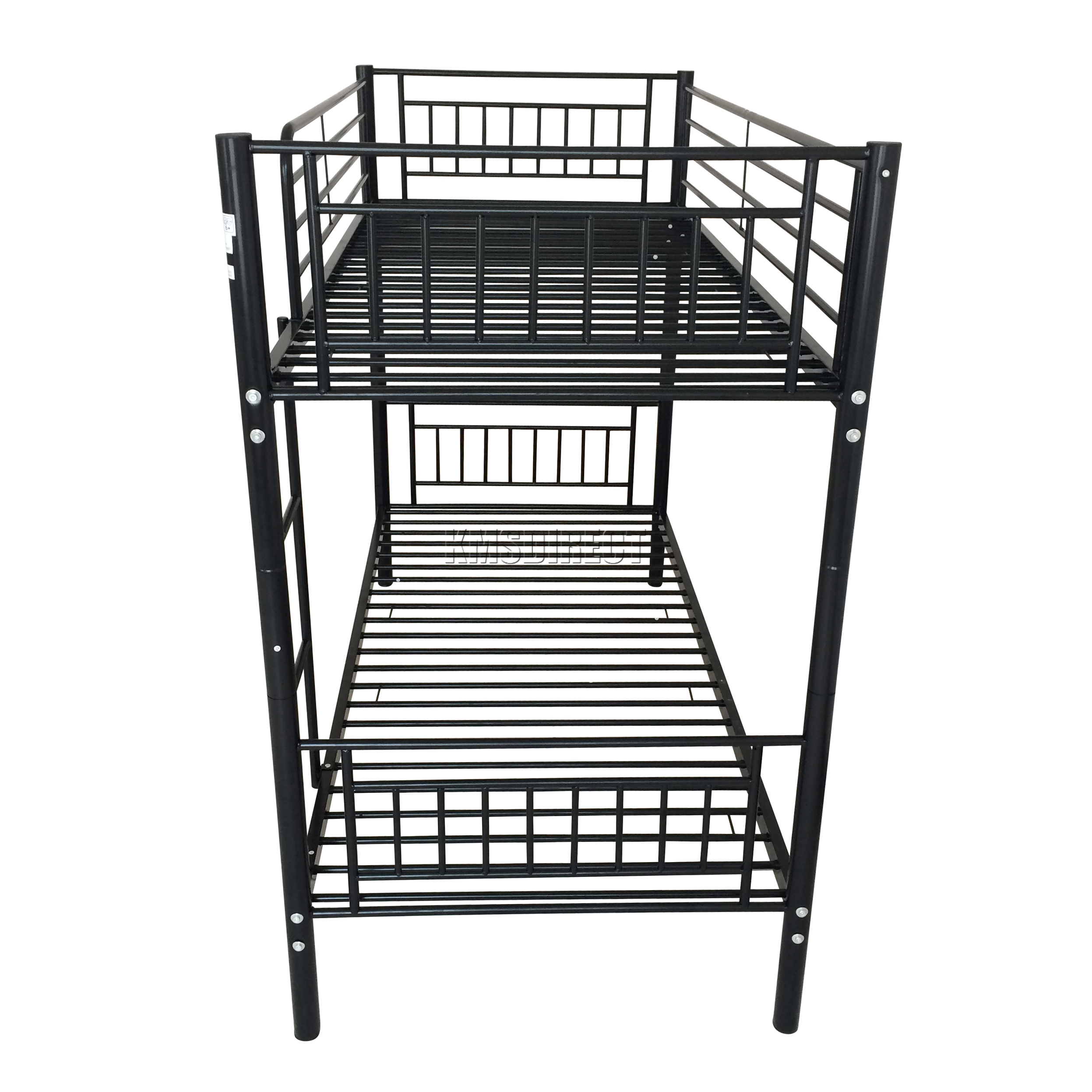 foxhunter 3ft single metal frame bunk bed children kids twin sleeper black mbb03 ebay. Black Bedroom Furniture Sets. Home Design Ideas