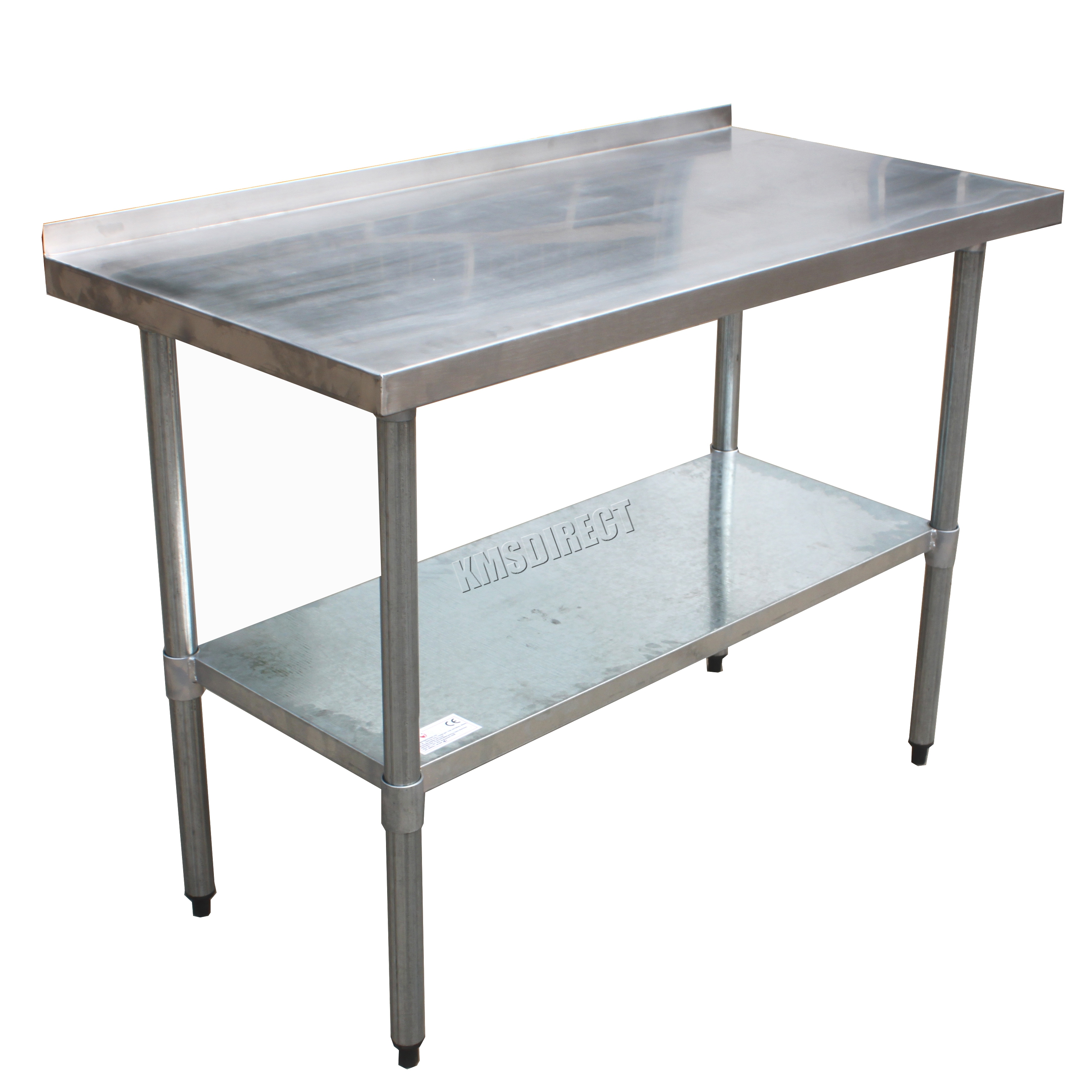 Sentinel FoxHunter Stainless Steel Catering Table Backsplash Work Bench  Kitchen 2FT X 4FT