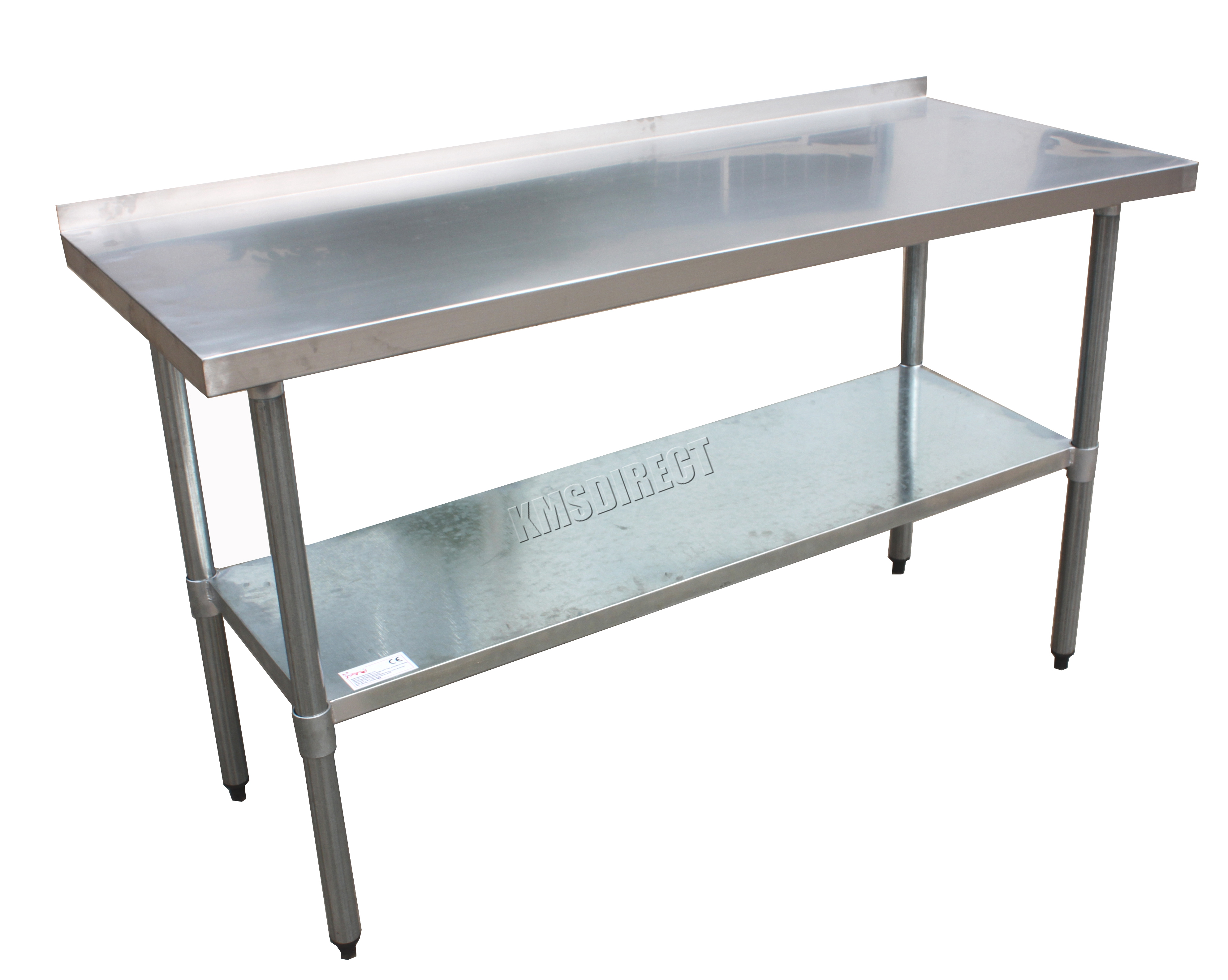 Work Table For Kitchen Foxhunter Stainless Steel Catering Table Backsplash Work Bench