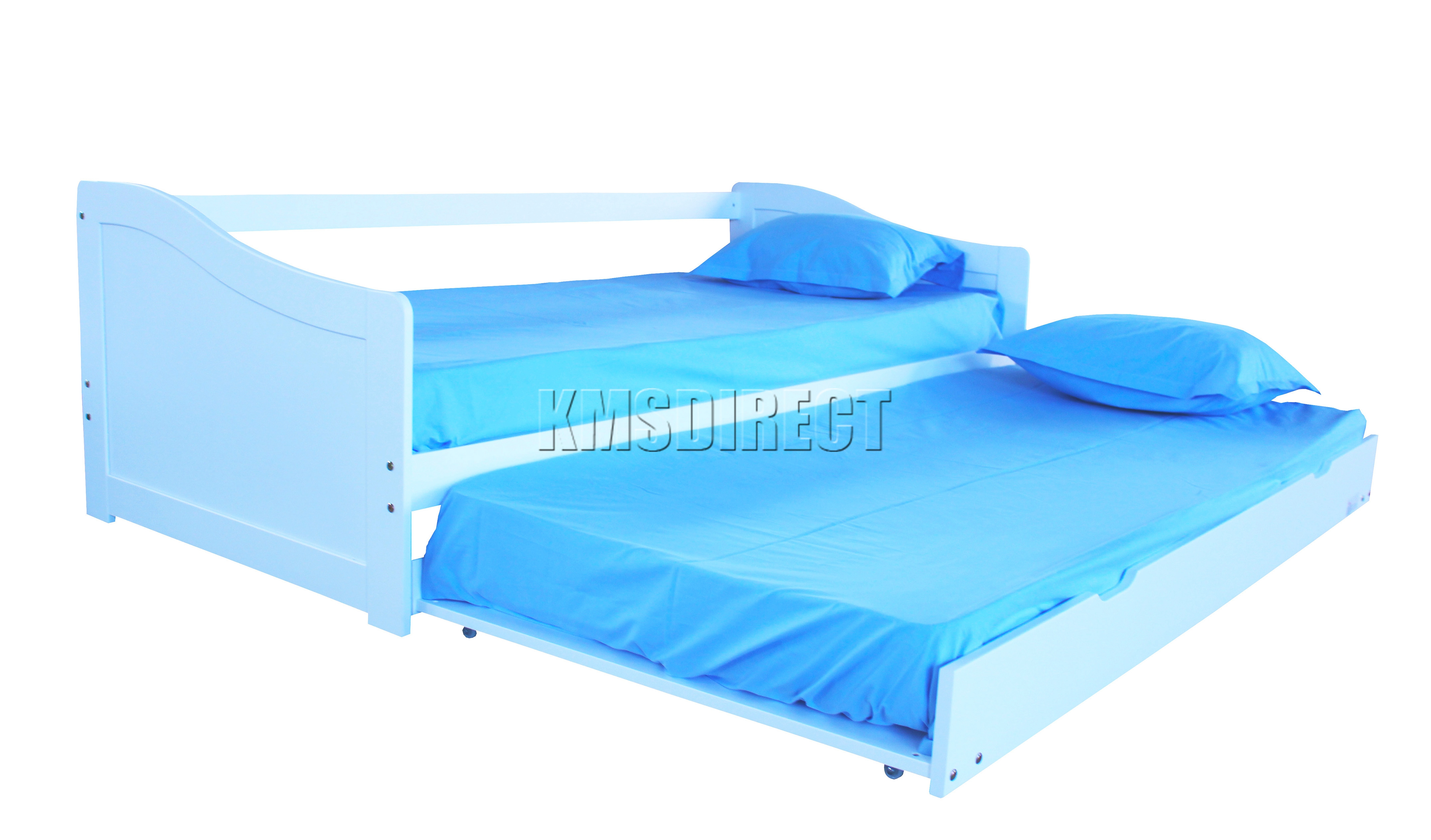 White Princess Wood Day Bed With Trundle Pictures To Pin On Pinterest
