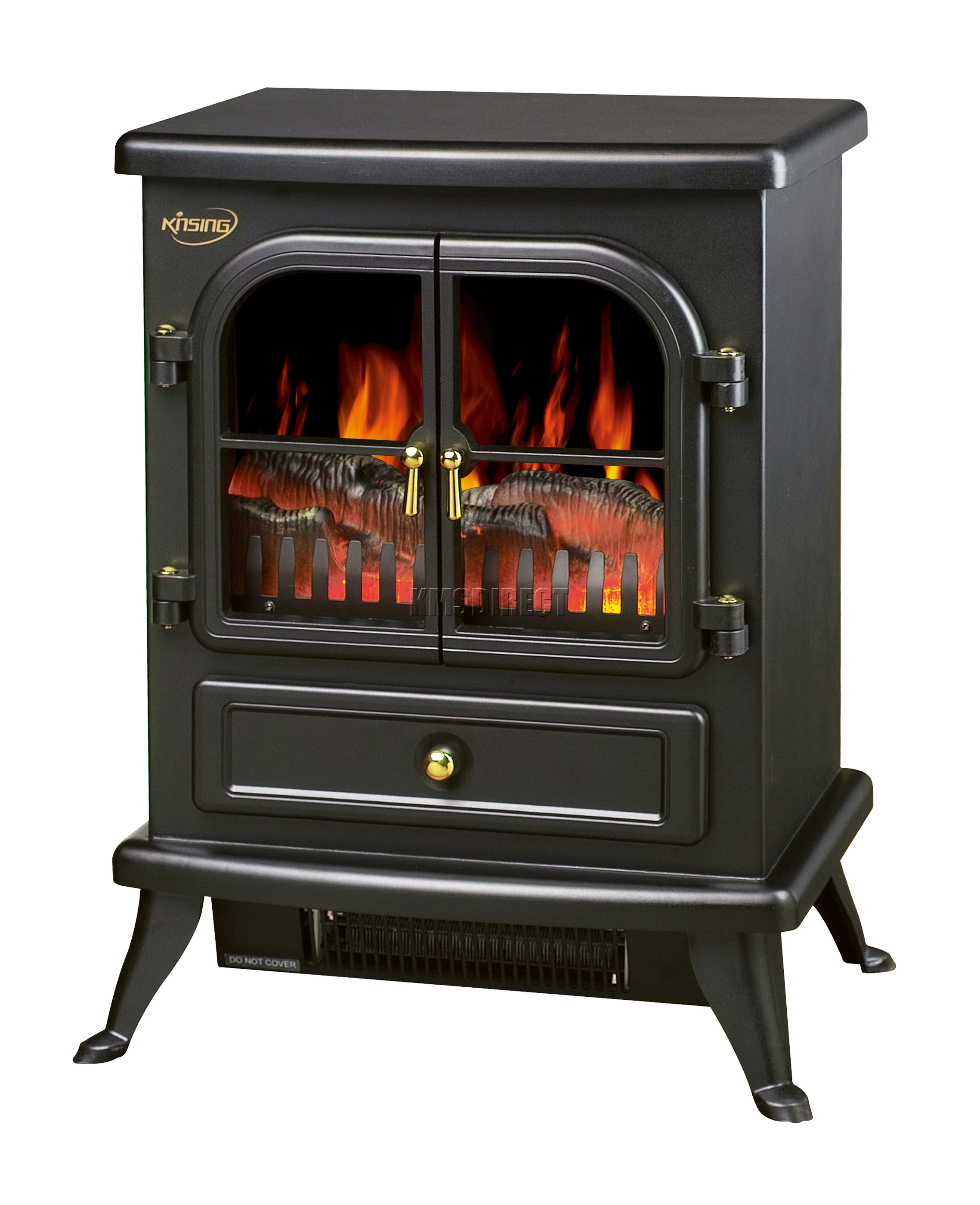 Log Burning Flame Effect 1850W Electric Fire Heater
