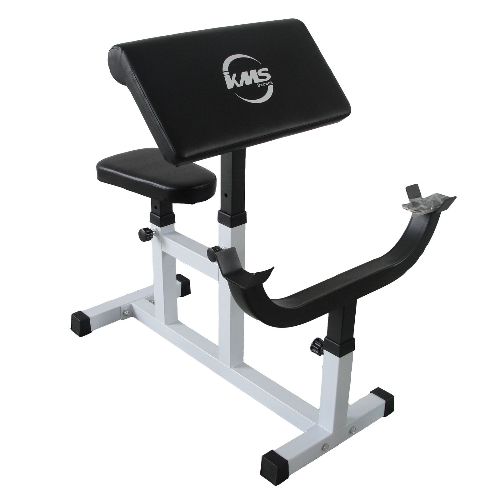 heavy duty steel preacher arm curl weight bench bicep gym