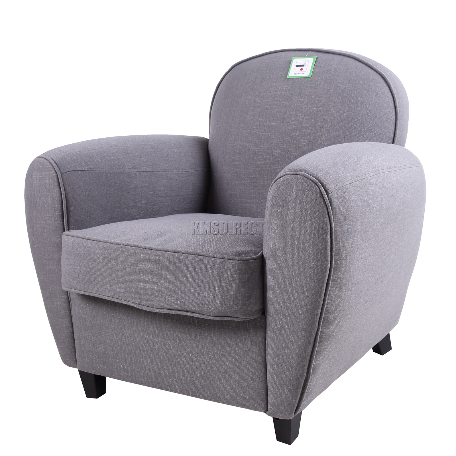Fabric Tub Chair Armchair 2094 Sofa Dining Living Room Grey New | eBay