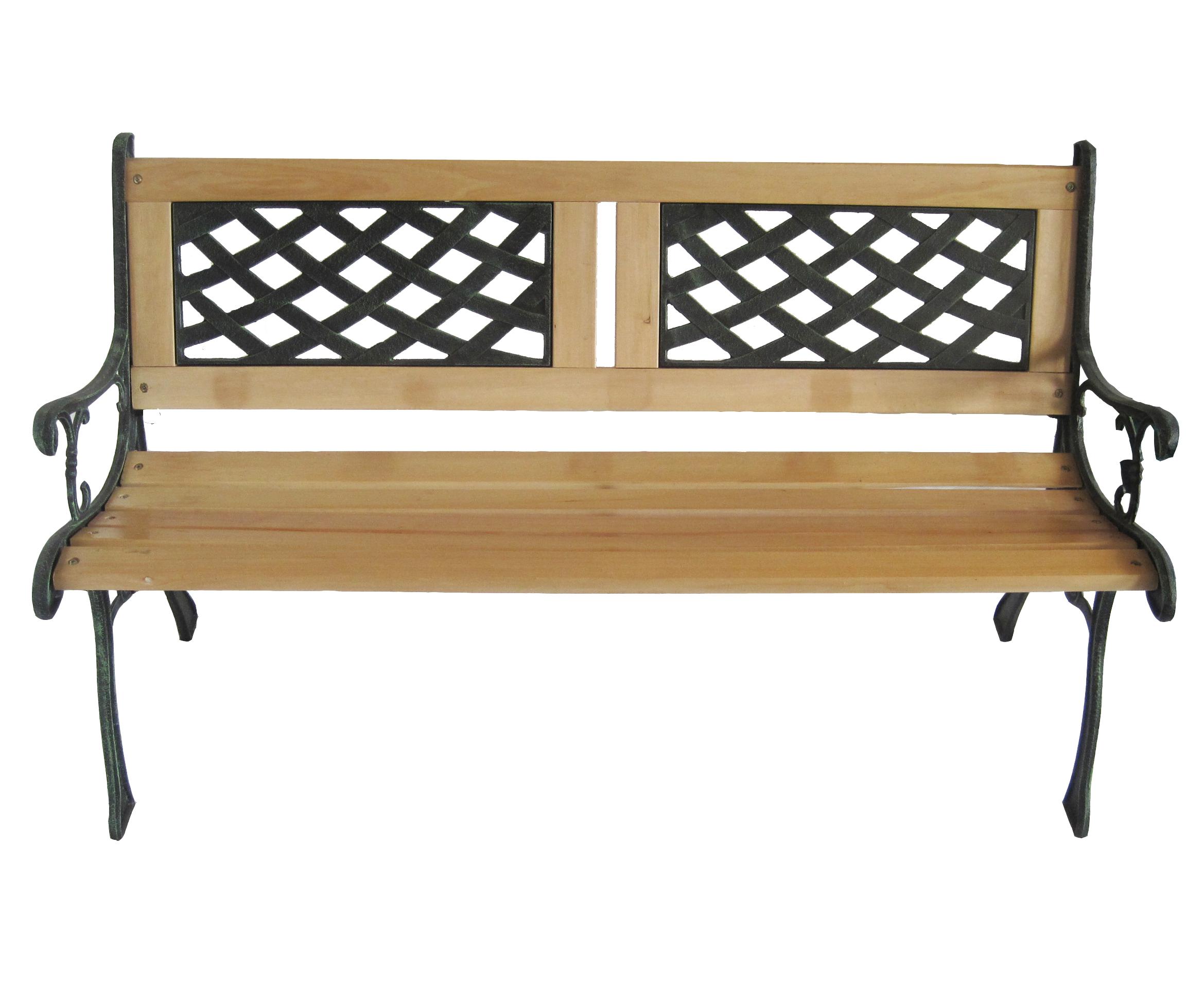 Outdoor Wooden 3 Seater Lattice Slat Garden Bench With