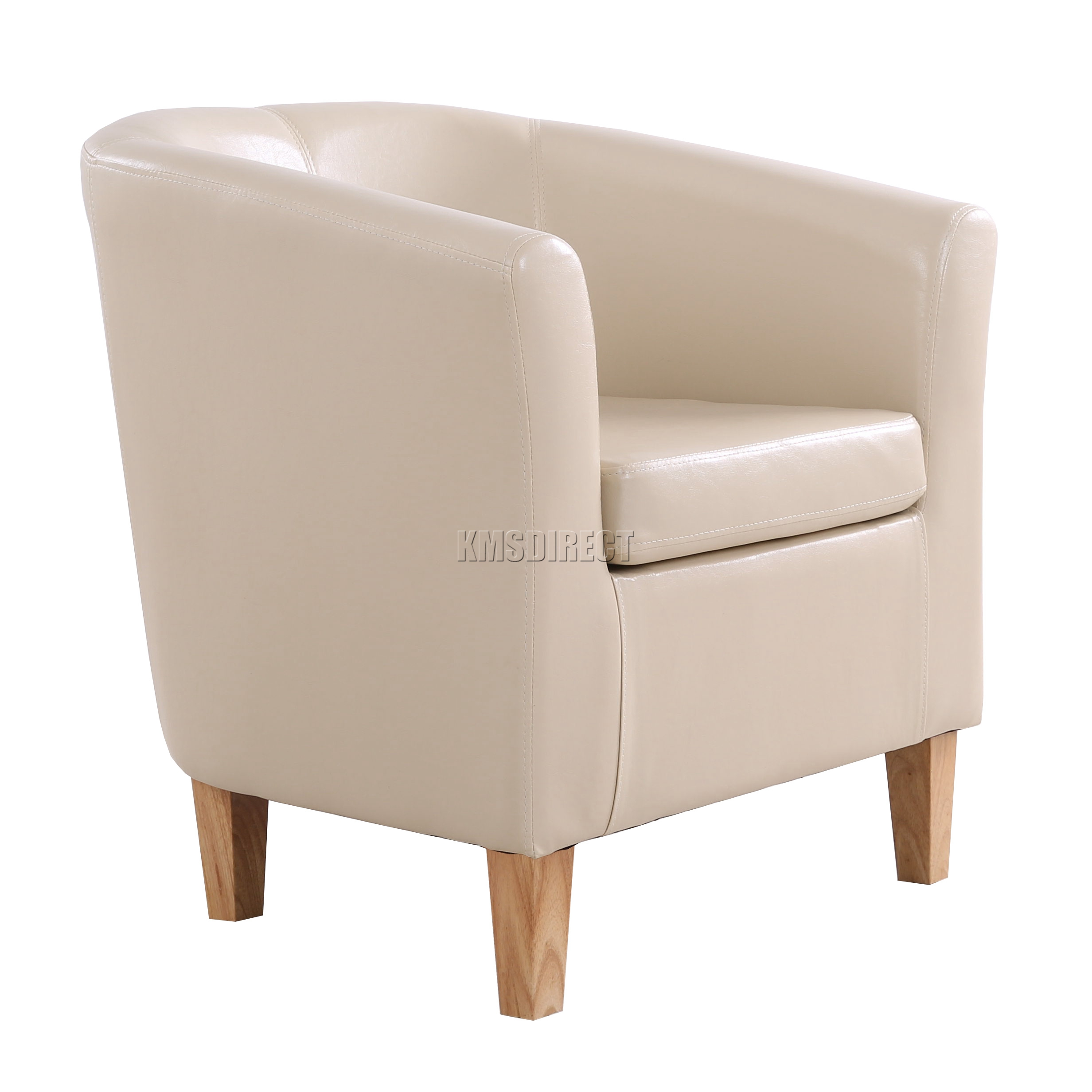 Ivory Leather Dining Room Chairs: FoxHunter Ivory Faux Leather Tub Chair Armchair Dining Room Lounge Furniture New