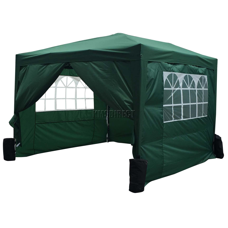 FoxHunter Waterproof 3x3m Pop Up Gazebo Marquee Garden Awning Party Tent Green  eBay
