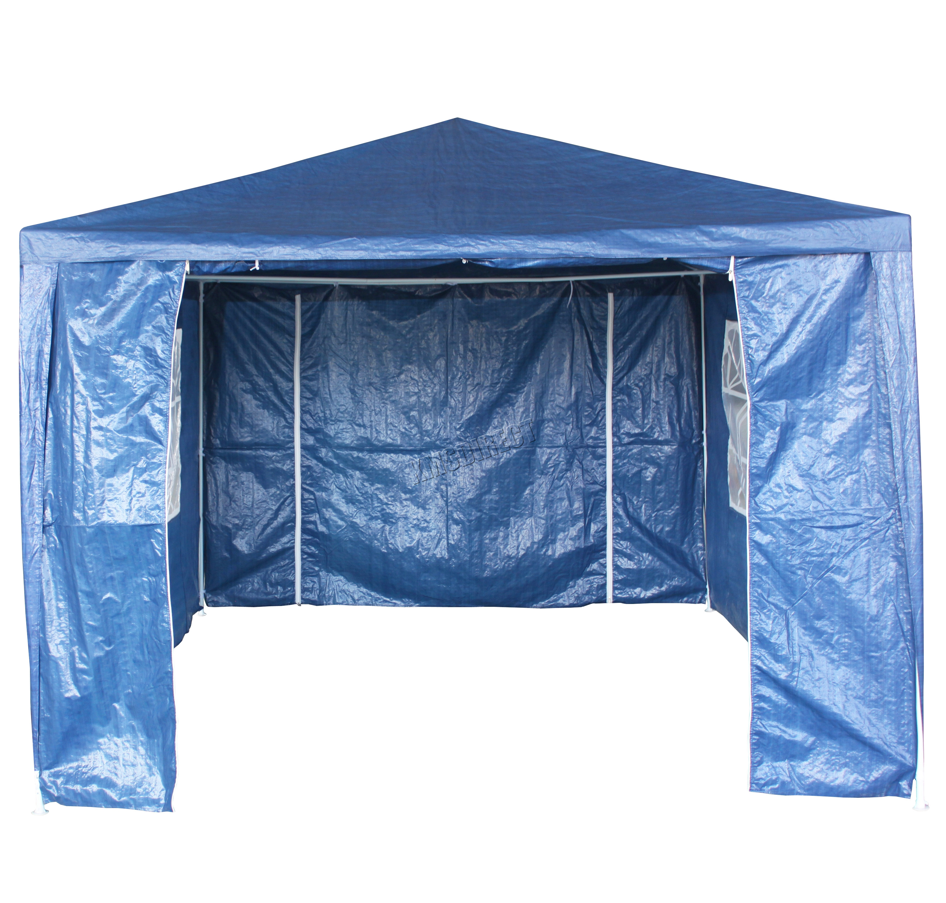 Garden gazebo 3 x 4m - Sentinel Waterproof Blue 3m X 4m Outdoor Garden Gazebo Party Tent Marquee Awning Canopy
