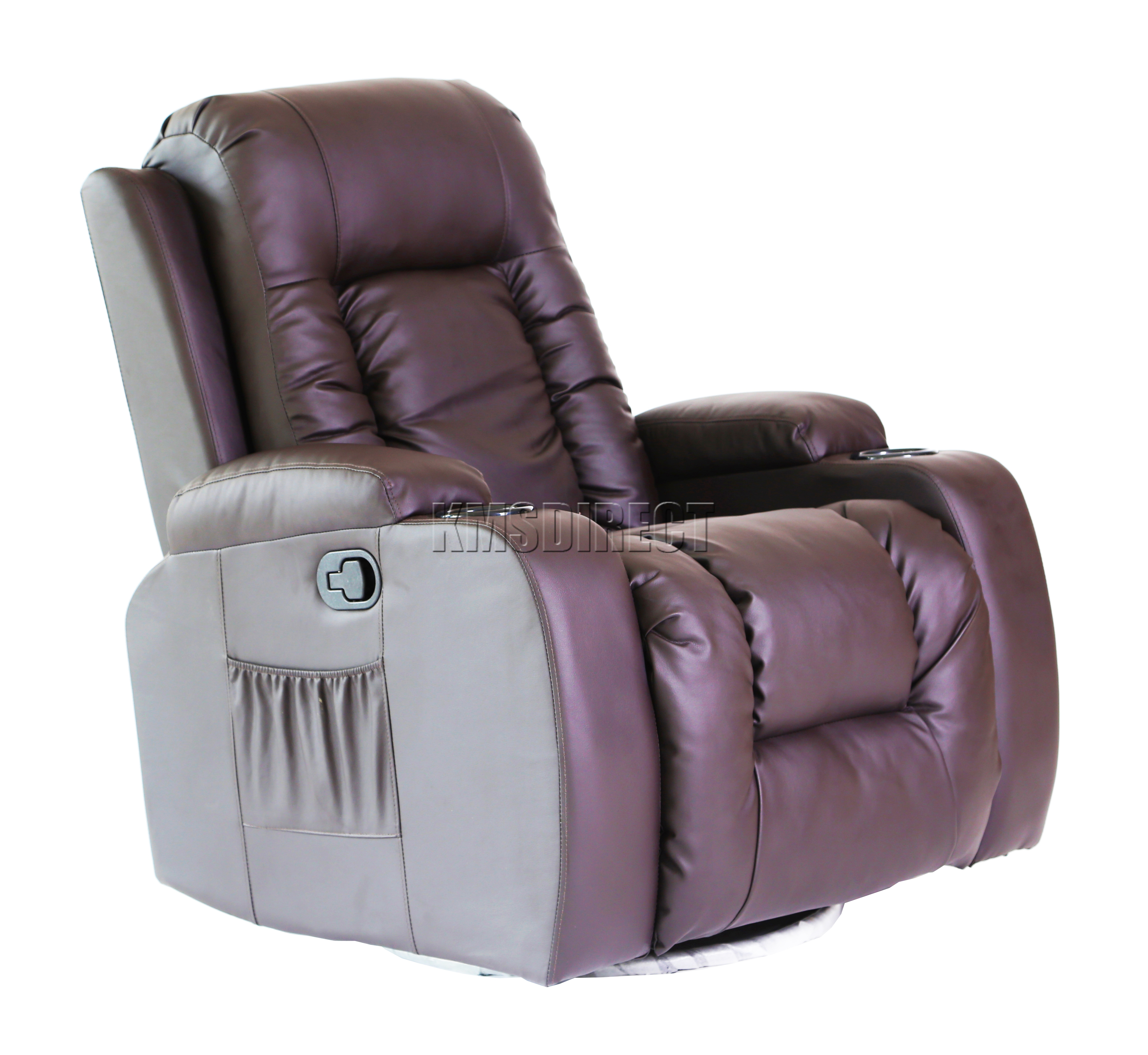 Foxhunter Leather Massage Cinema Recliner Sofa Chair Swivel Rocking Mls 02 Brown Ebay