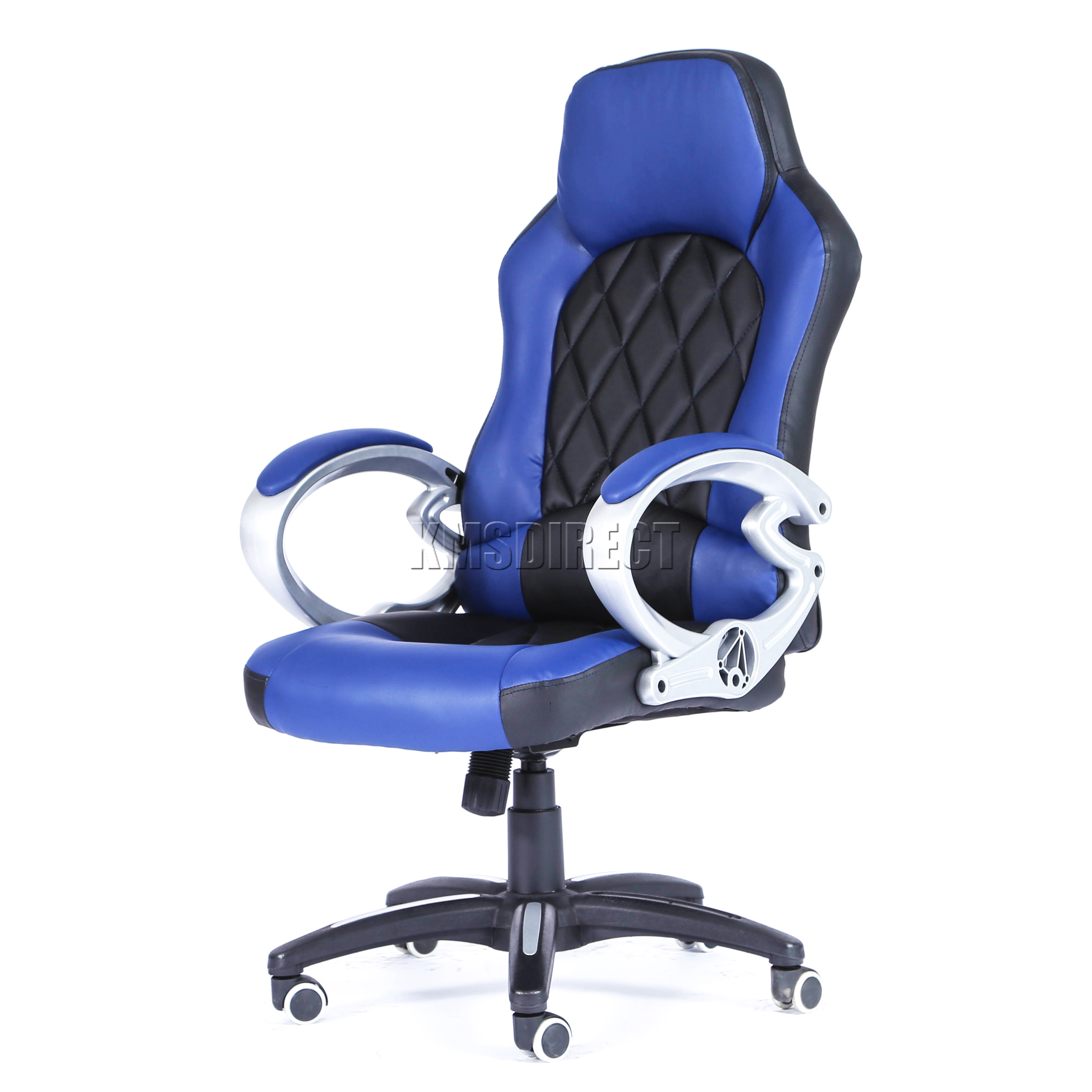 Computer executive office chair pu leather swivel high back oc10 blue