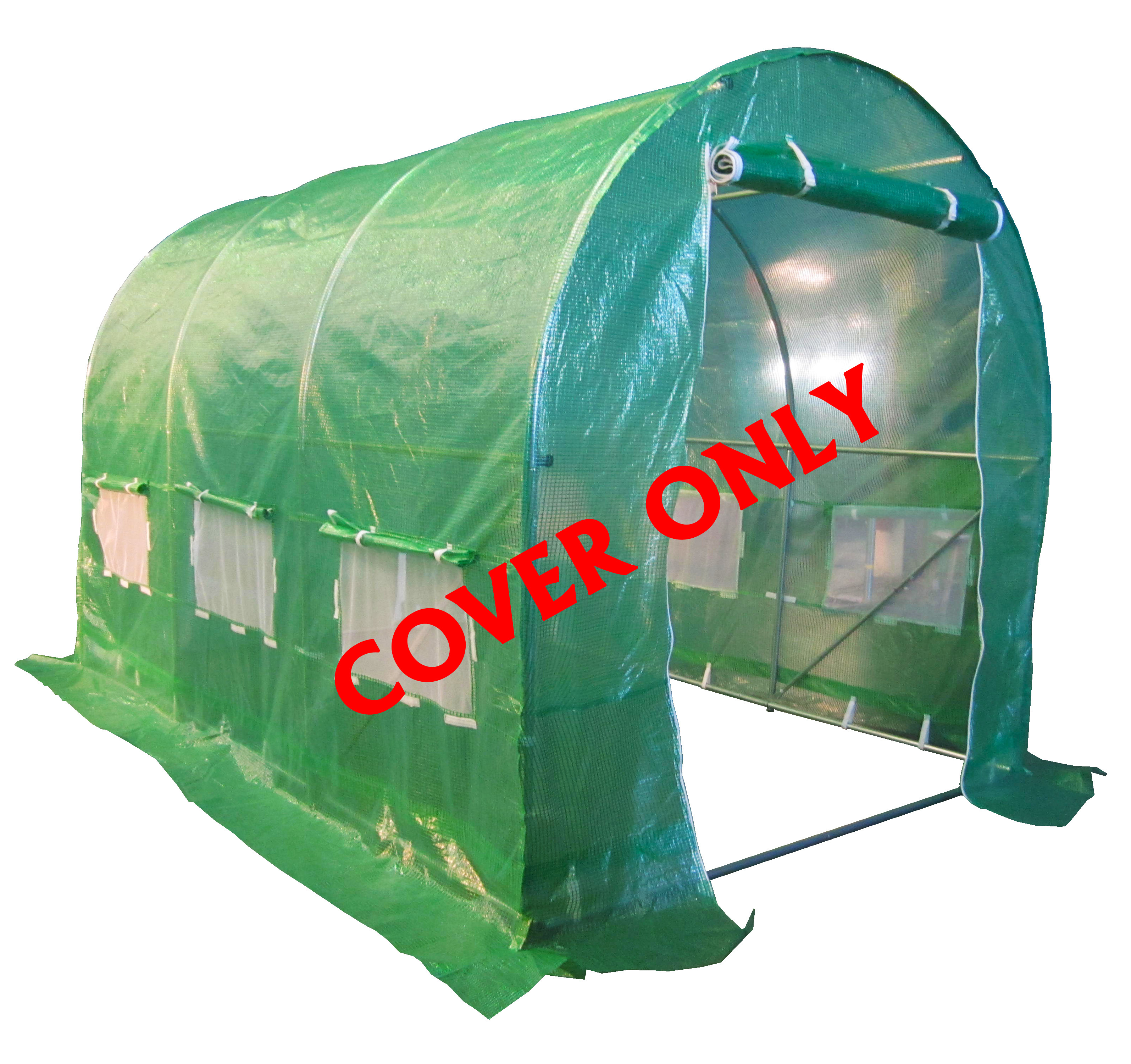 new polytunnel greenhouse pollytunnel poly tunnel cover only 3m x 2m 3 section ebay. Black Bedroom Furniture Sets. Home Design Ideas