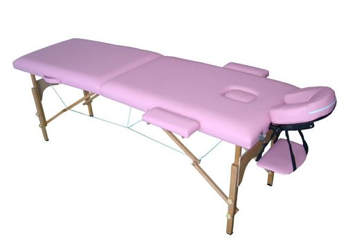 LIGHTWEIGHT PORTABLE FOLDING MASSAGE BEAUTY BED PINK