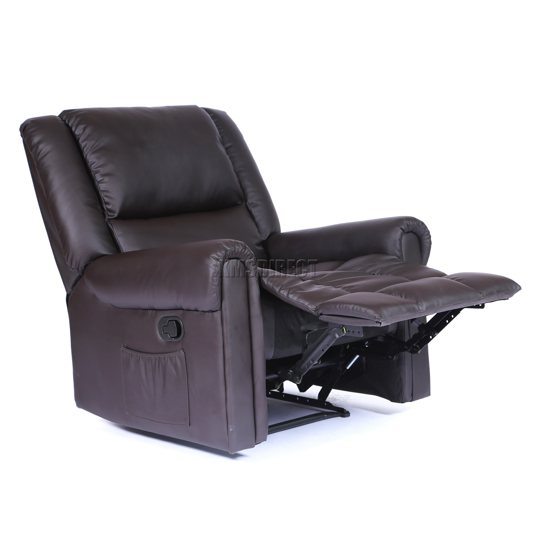Foxhunter Luxury 1 Seater Leather Cinema Recliner Sofa