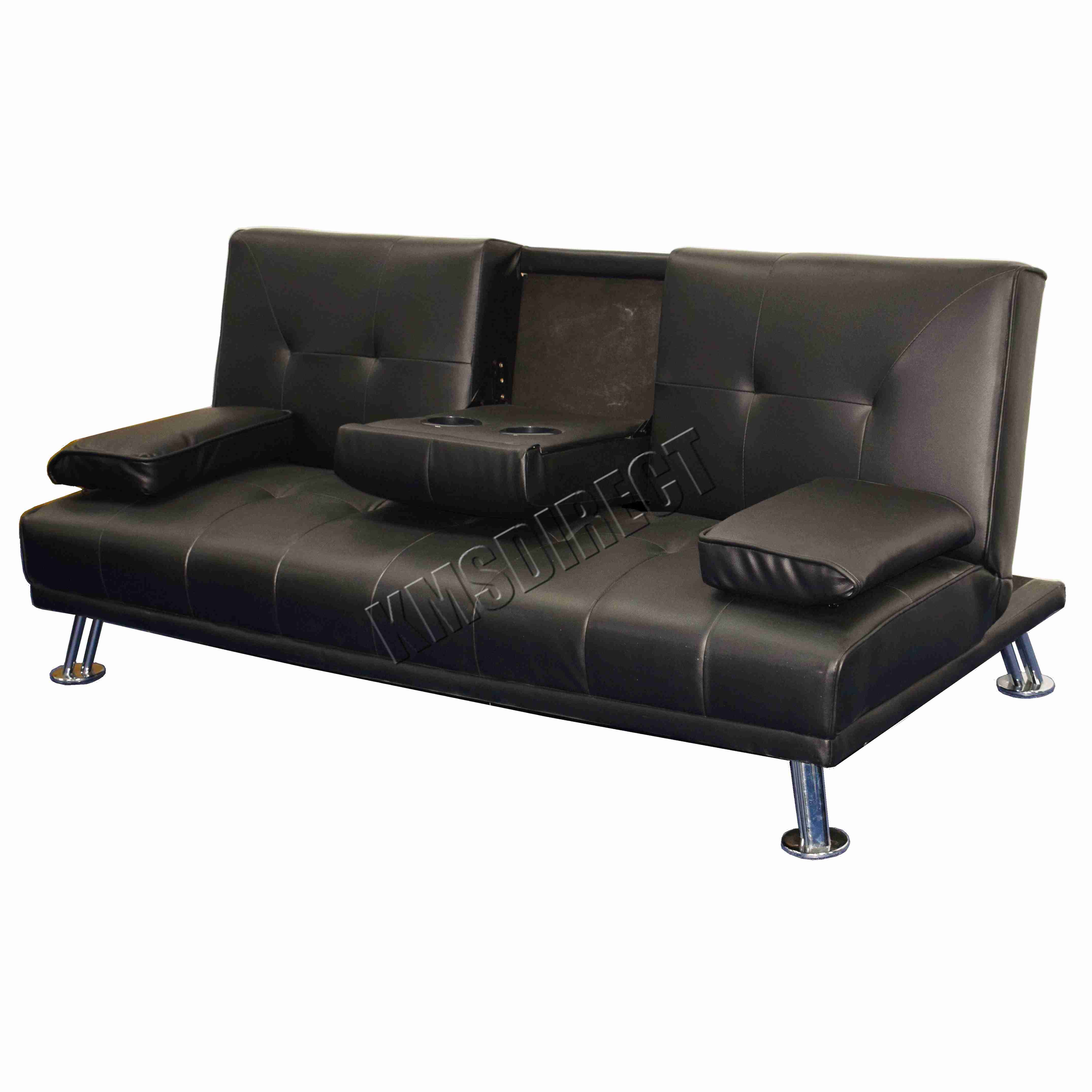 Faux Leather Manhattan Sofa Bed Recliner 3 Seater Modern