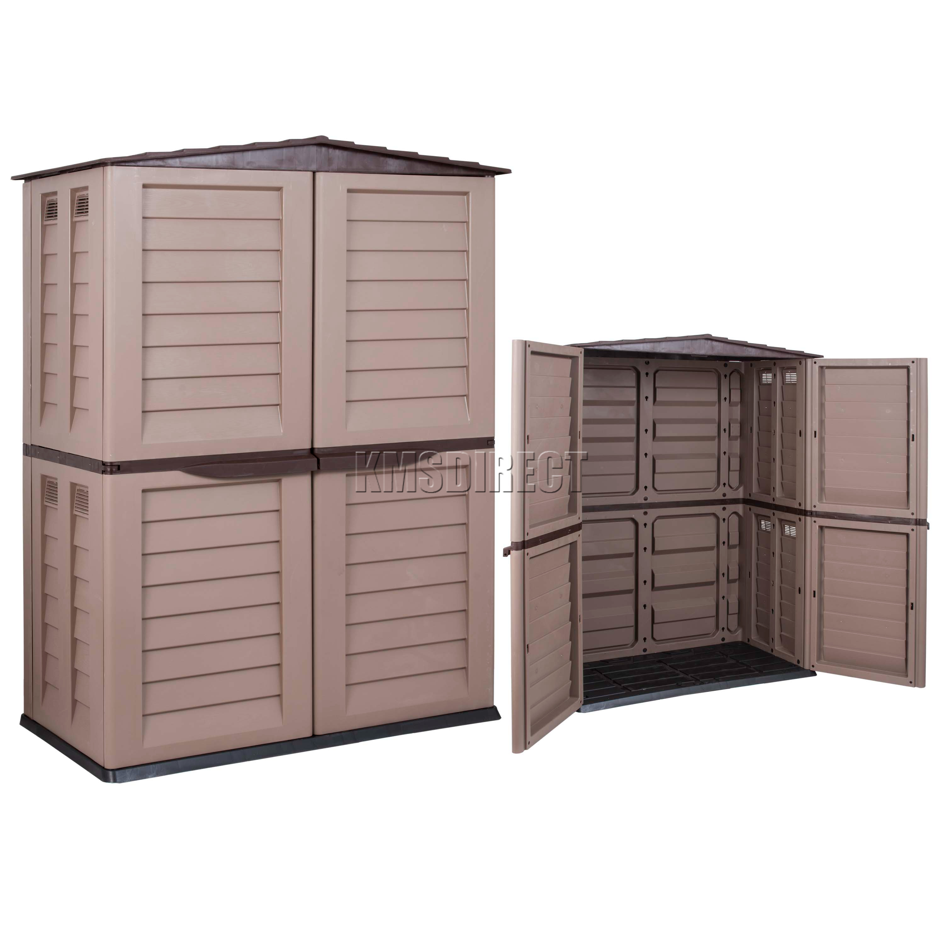 Starplast outdoor plastic garden tall shed box storage for Sheds and storage units
