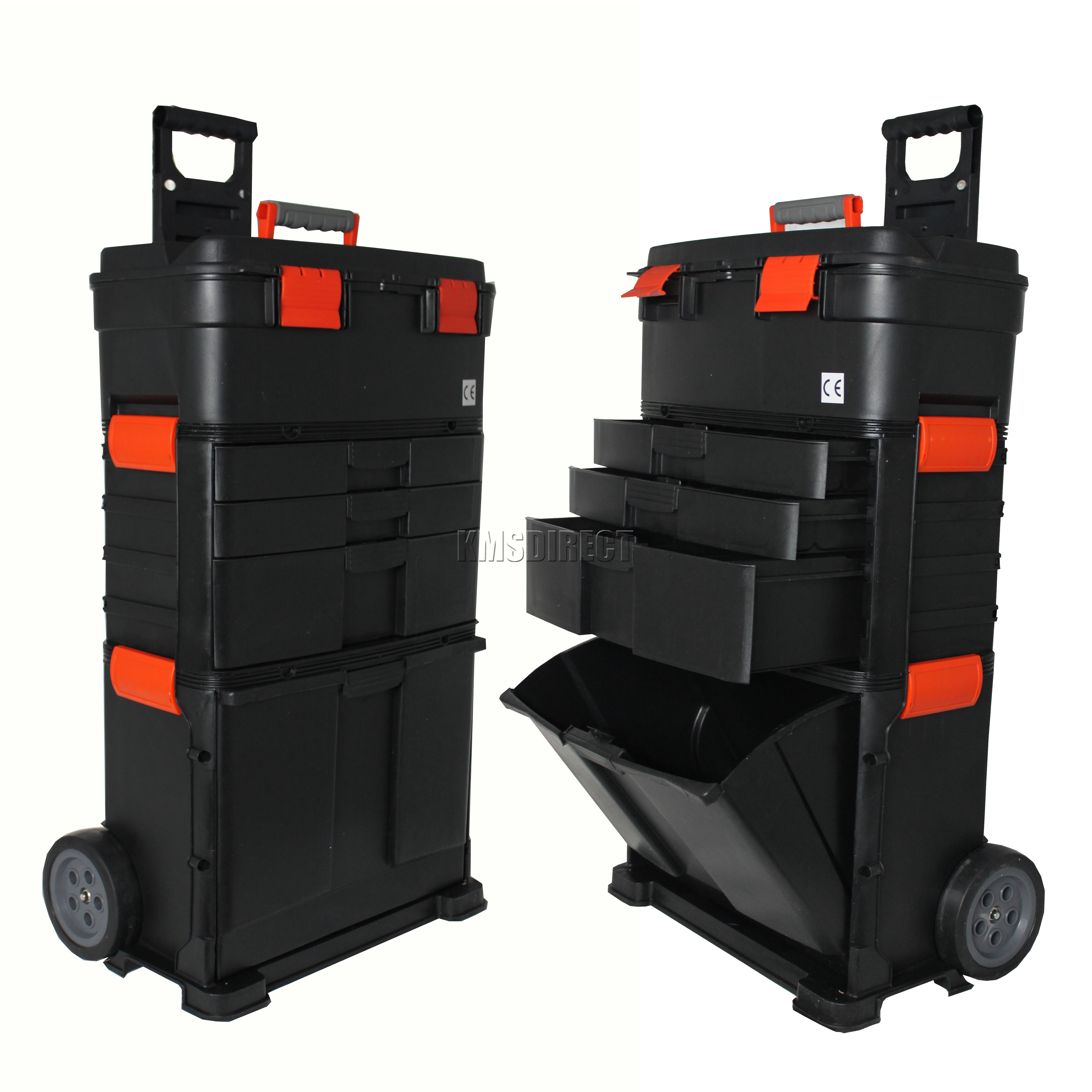 New mobile roller work shop chest trolley cart storage tool box toolbox on wheel ebay - The mobile office working on two wheels ...