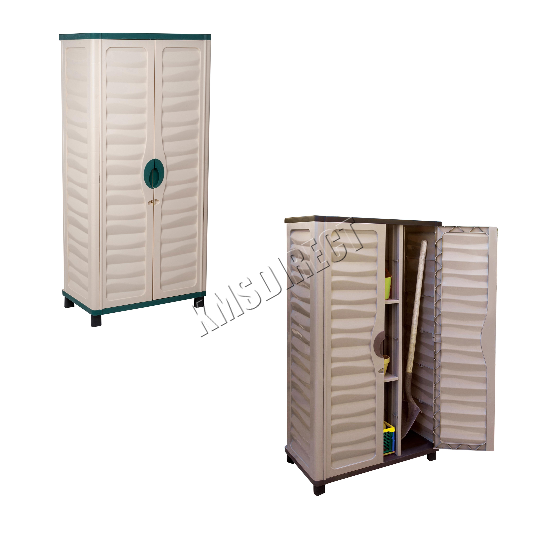 Starplast Outdoor Plastic Garden Utility Cabinet With Partition Storage 46 811 Ebay