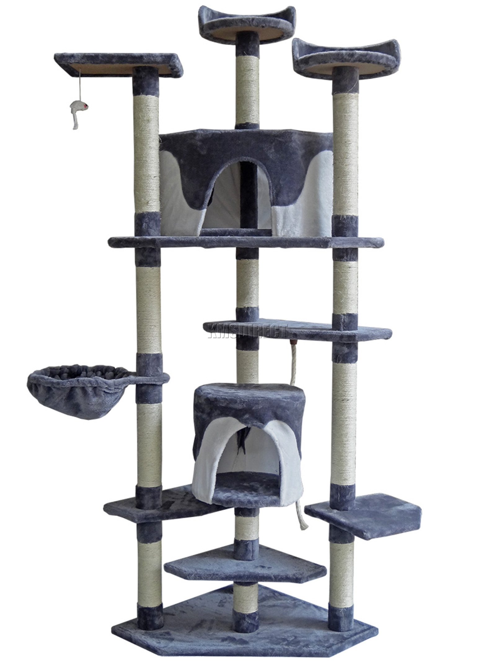 Foxhunter Kitten Cat Tree Scratching Post Sisal Toy