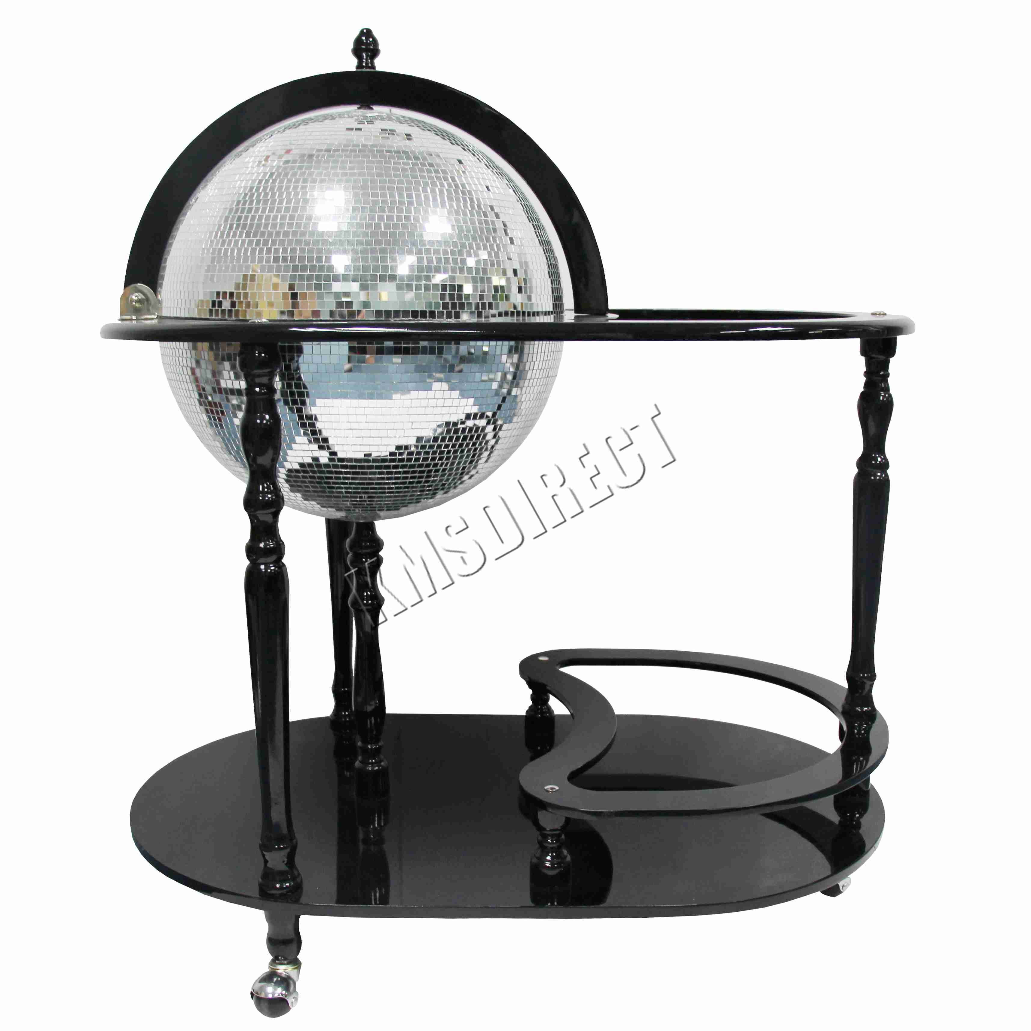 foxhunter globe mini bar trolley with table drinks cabinet. Black Bedroom Furniture Sets. Home Design Ideas