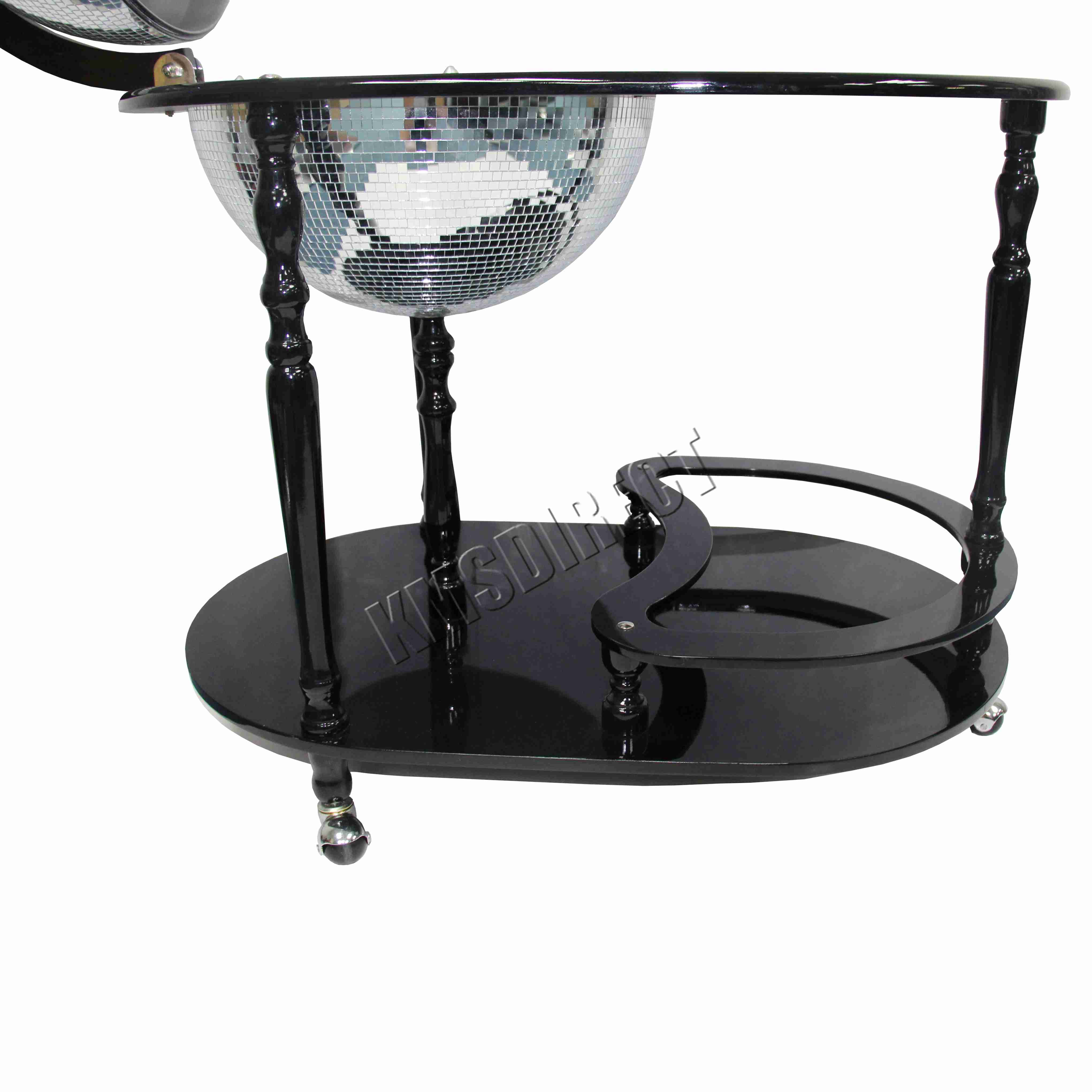 Foxhunter Globe Mini Bar Trolley With Table Drinks Cabinet Bottles