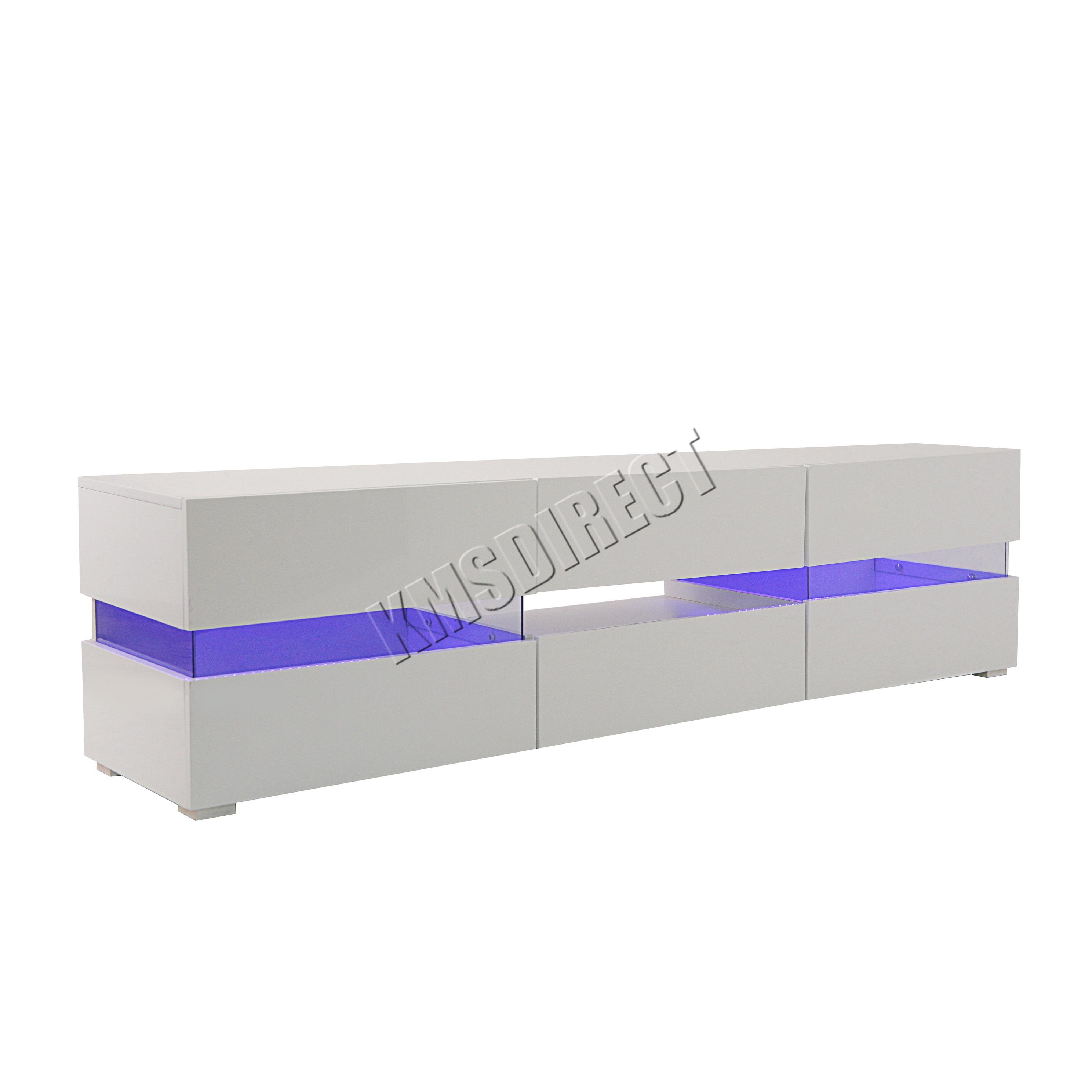 foxhunter modern high gloss matt tv cabinet unit stand white rgb led light tvc07. Black Bedroom Furniture Sets. Home Design Ideas