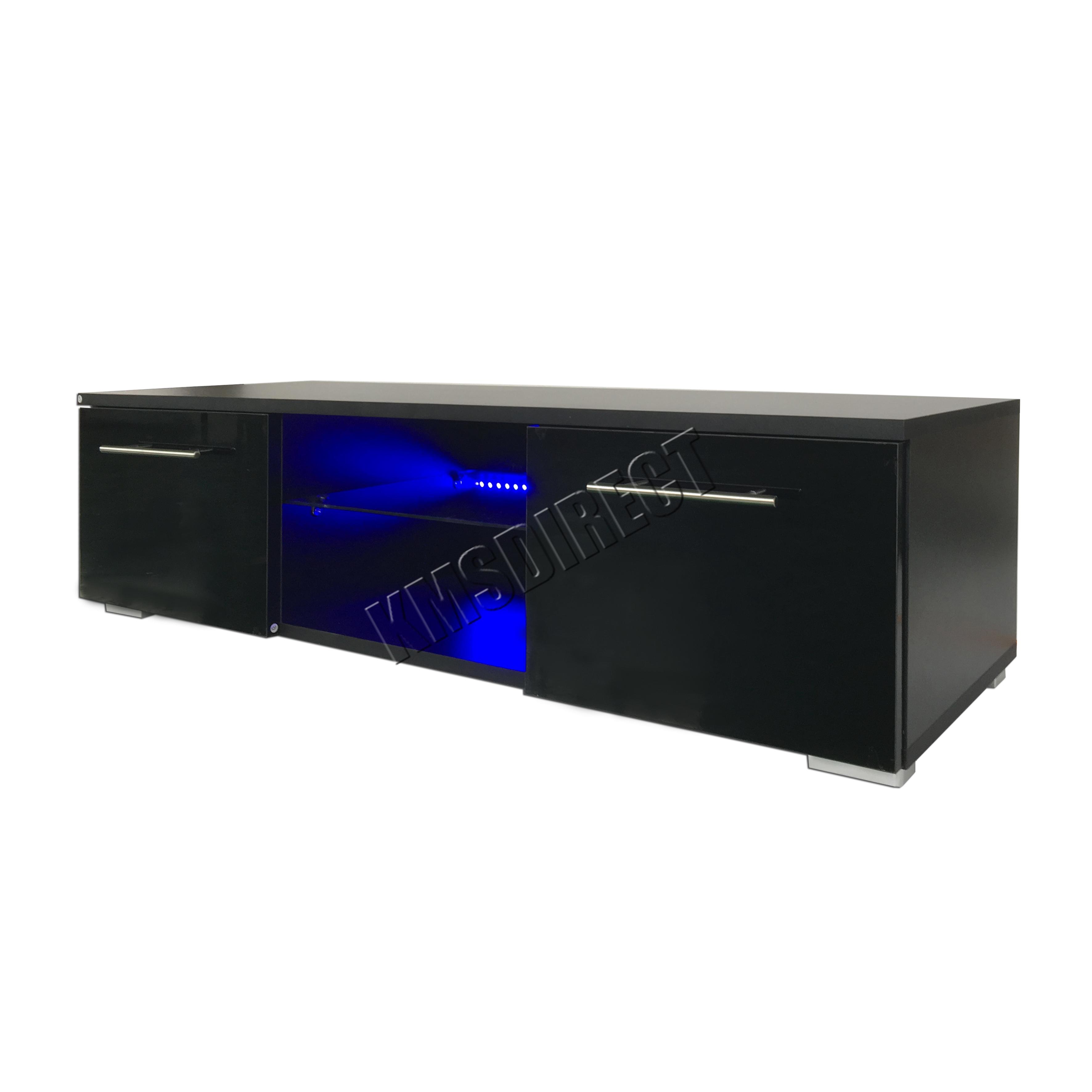 Foxhunter Modern High Gloss Matt Tv Cabinet Unit Stand Led