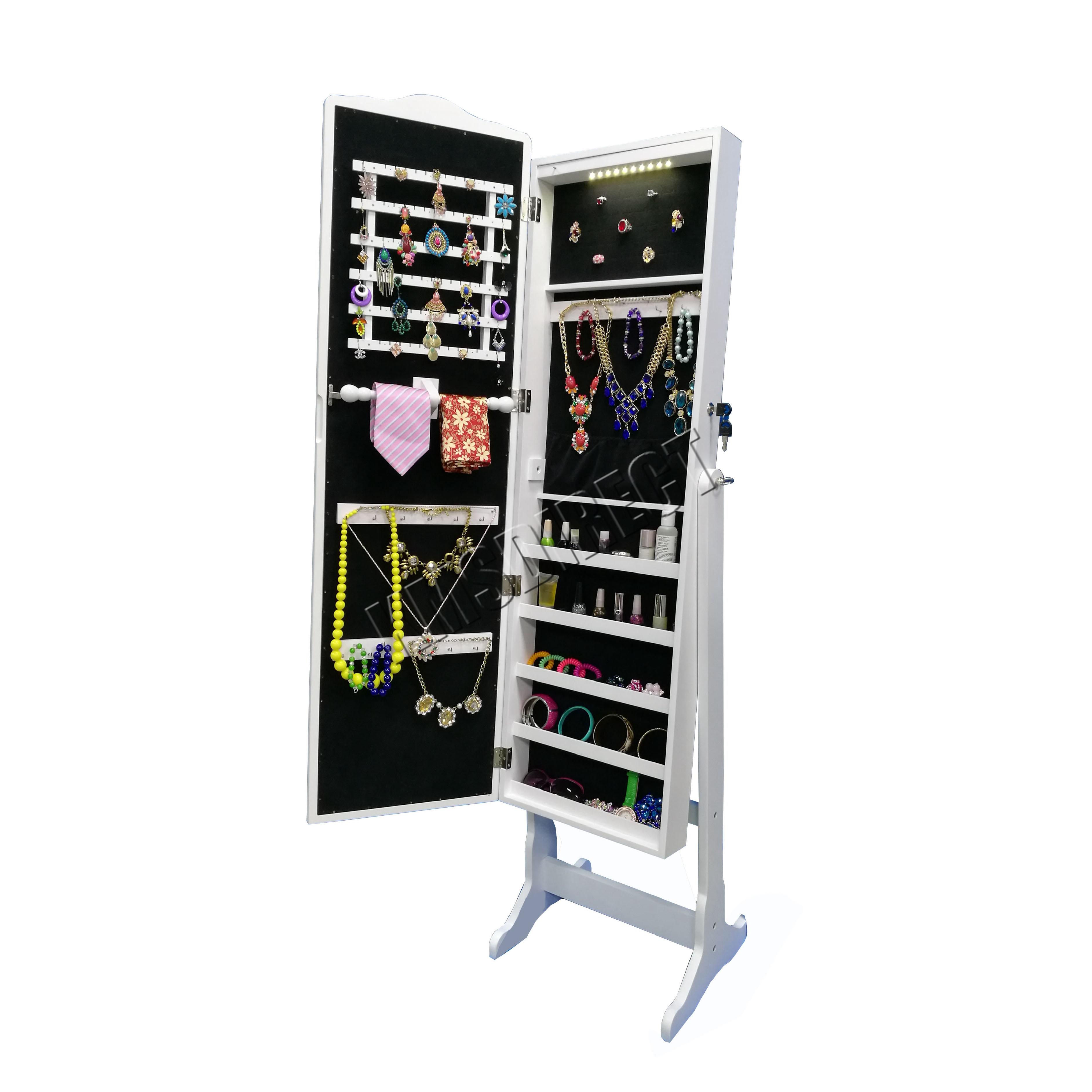 FoxHunter Armoire Jewellery Cabinet Makeup Storage Lockable ...