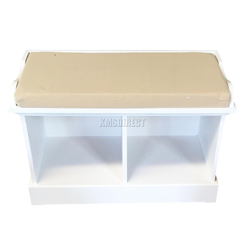 foxhunter bois rangement banquette avec 2 3 en osier panier tiroir armoire coussin ebay. Black Bedroom Furniture Sets. Home Design Ideas
