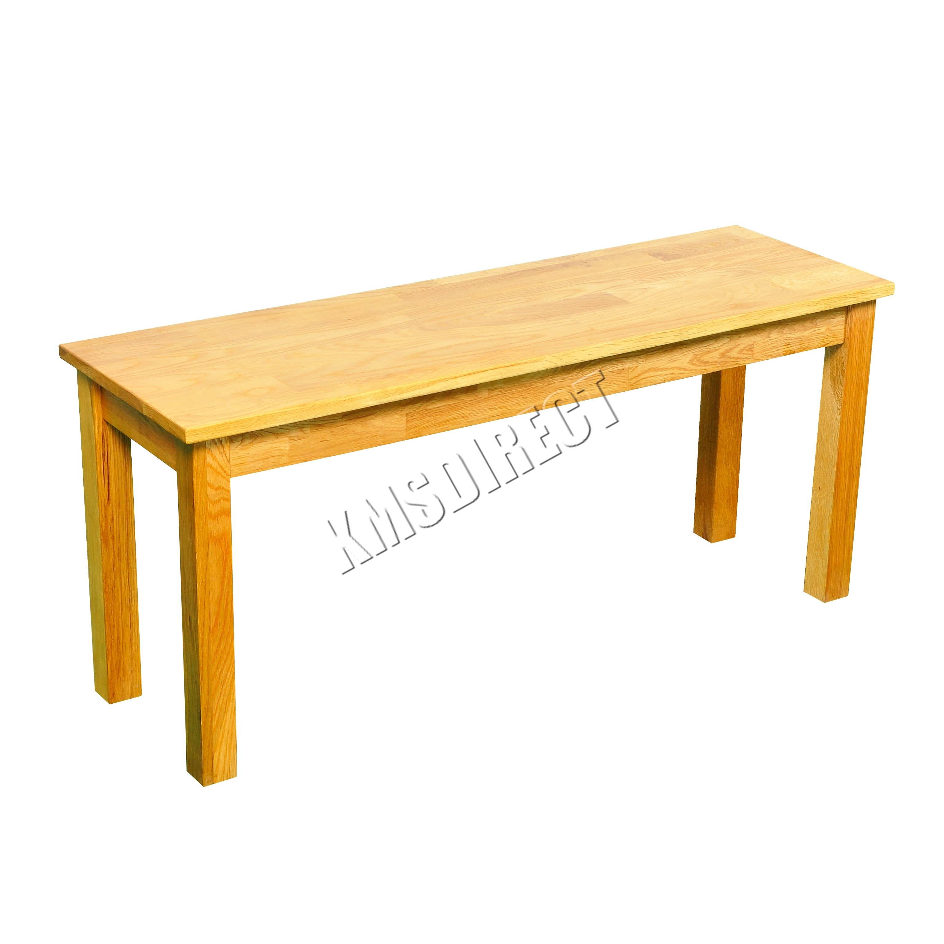 Foxhunter solid oak furniture dining bench wooden seat for Kitchen table bench seat