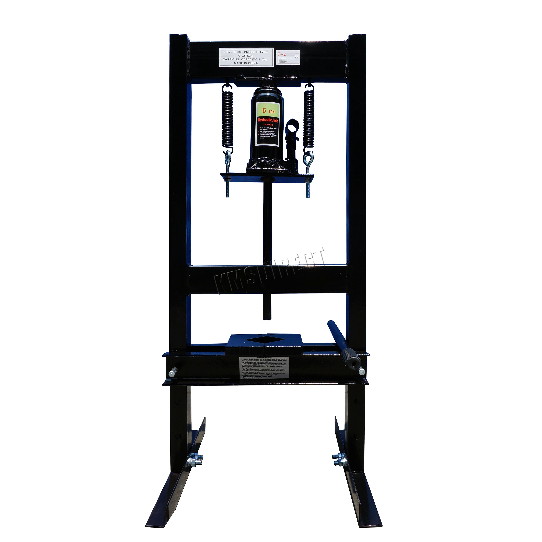 Foxhunter 6 Ton Hydraulic Garage Workshop Shop Press Heavy