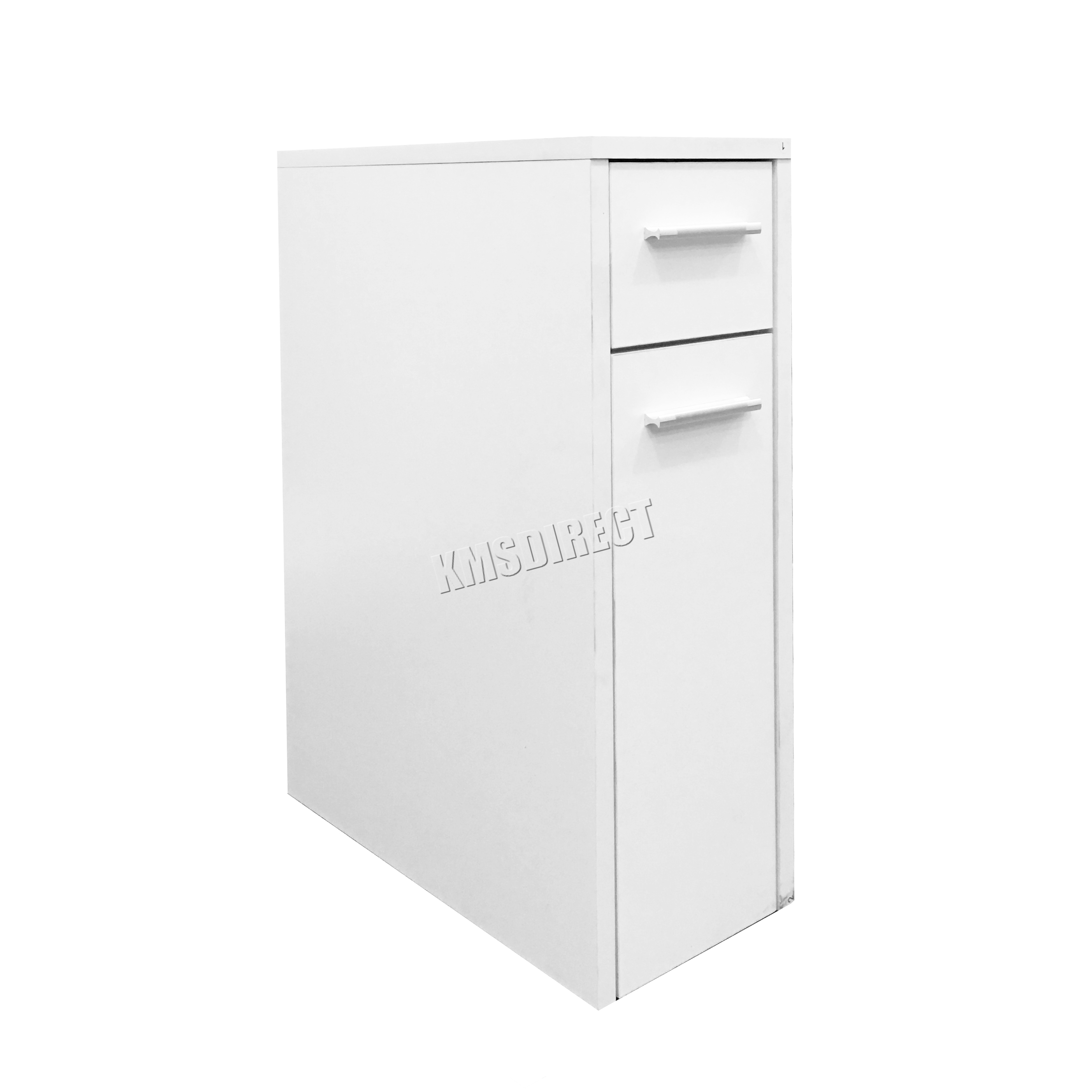Foxhunter slimline bathroom slide out storage drawer for Slimline bathroom cupboard