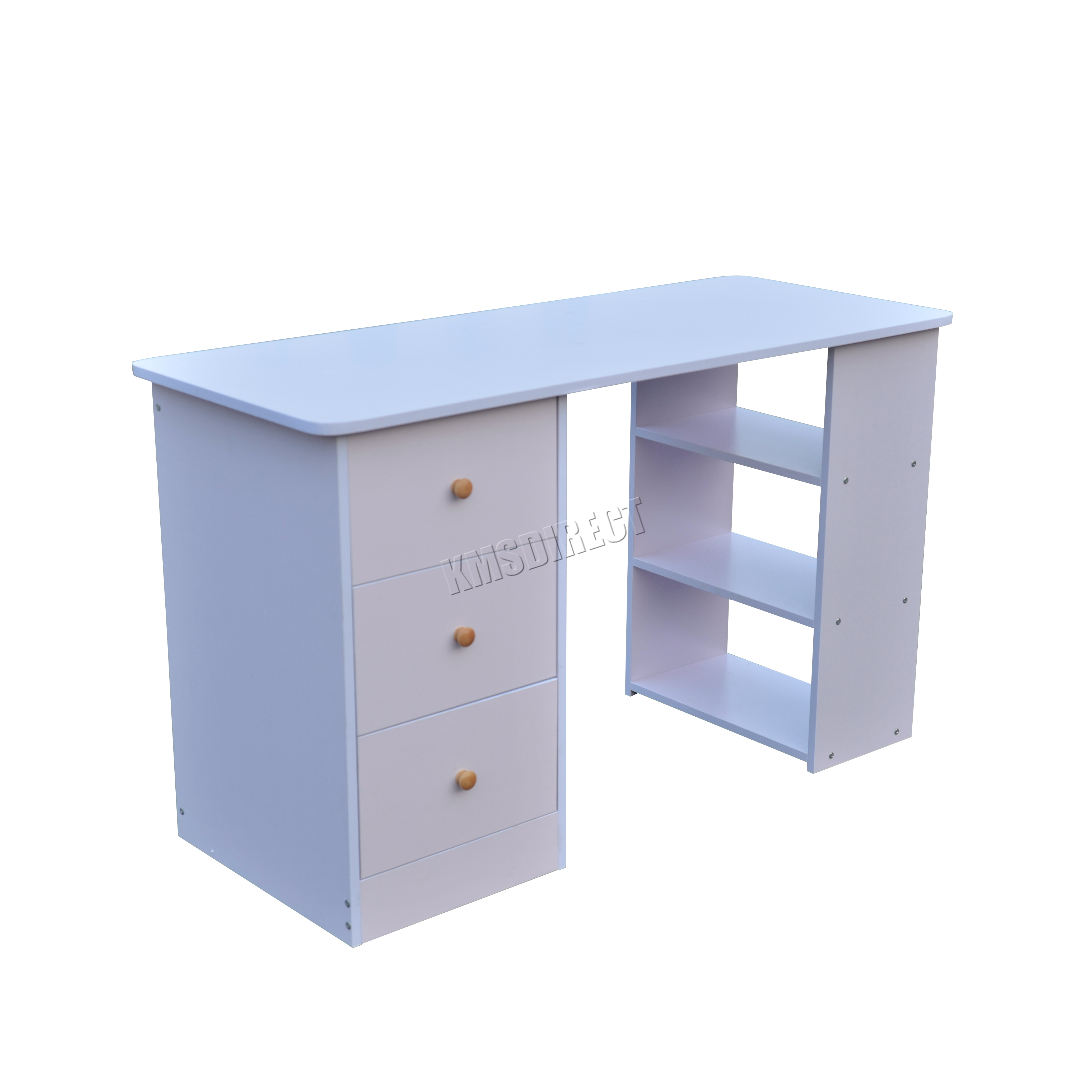 foxhunter computer desk with 3 drawers 3 shelves pc table. Black Bedroom Furniture Sets. Home Design Ideas
