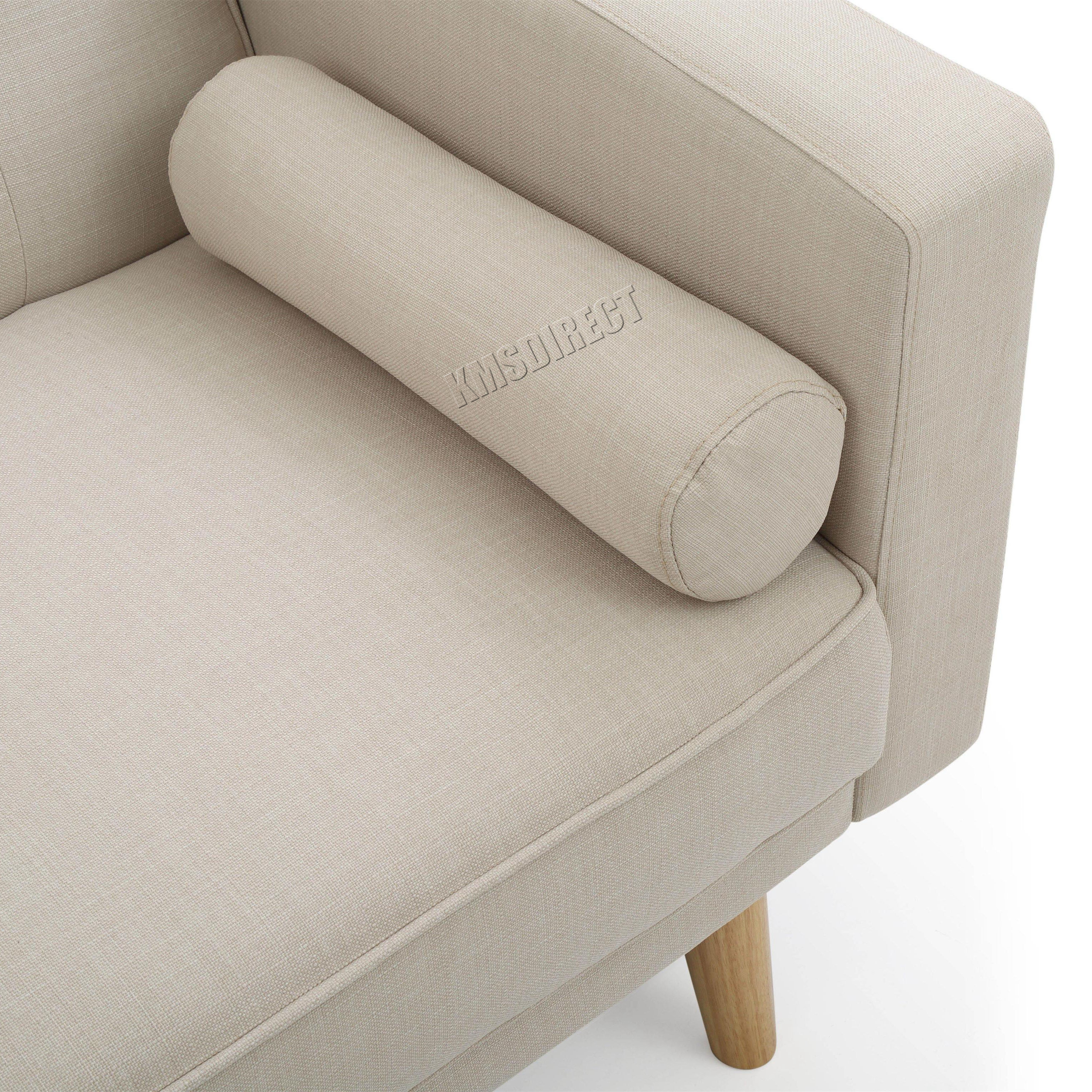 FoxHunter Fabric Sofa Bed 3 Seater Couch Luxury Home ...