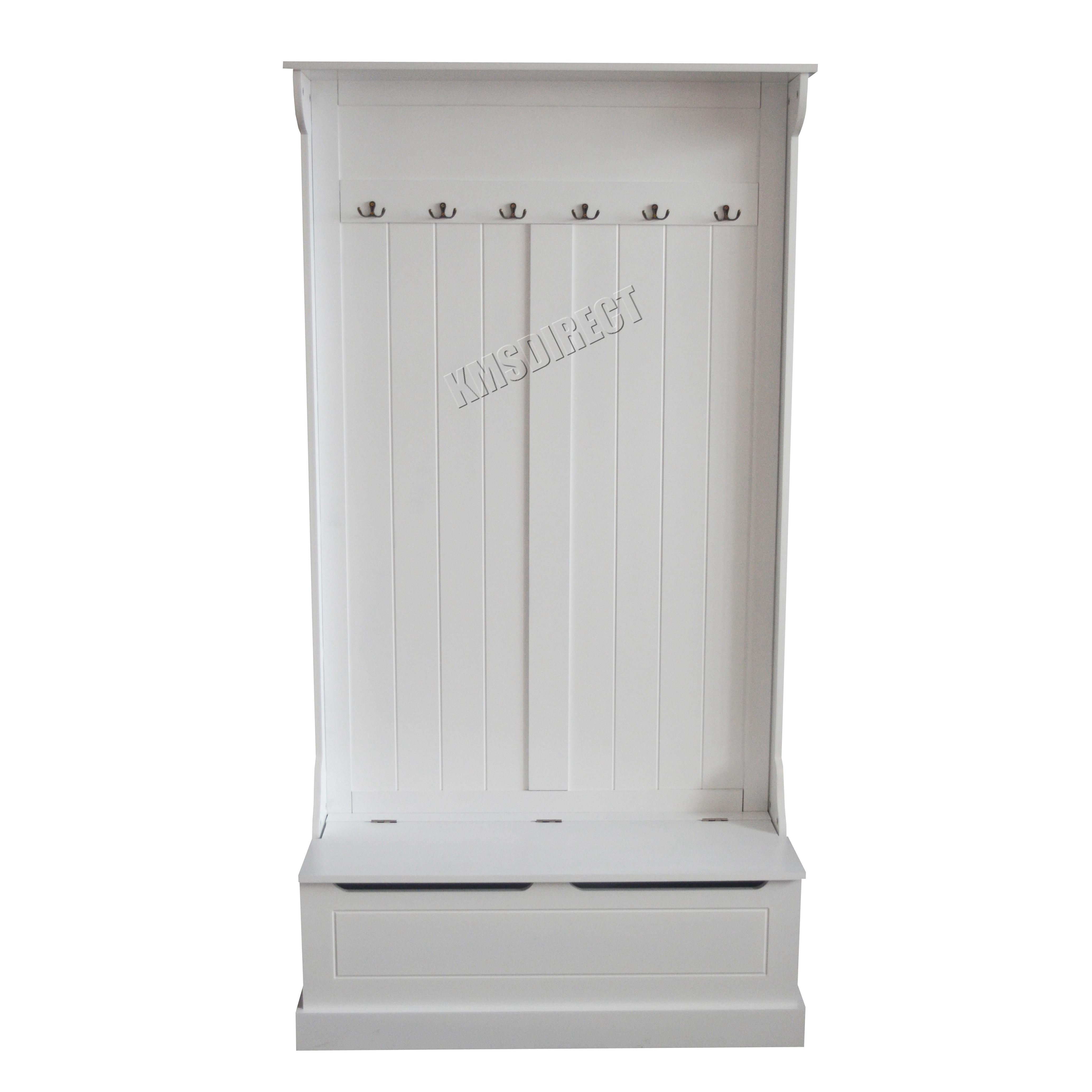Foxhunter Wooden Shoe Storage Cabinet Bench Coat Hook