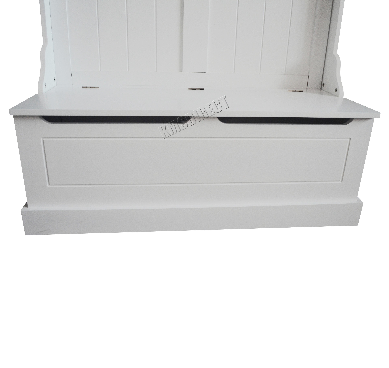 Foxhunter Wooden Shoe Storage Cabinet Bench Coat Hook Stand Rack Hallway White Ebay