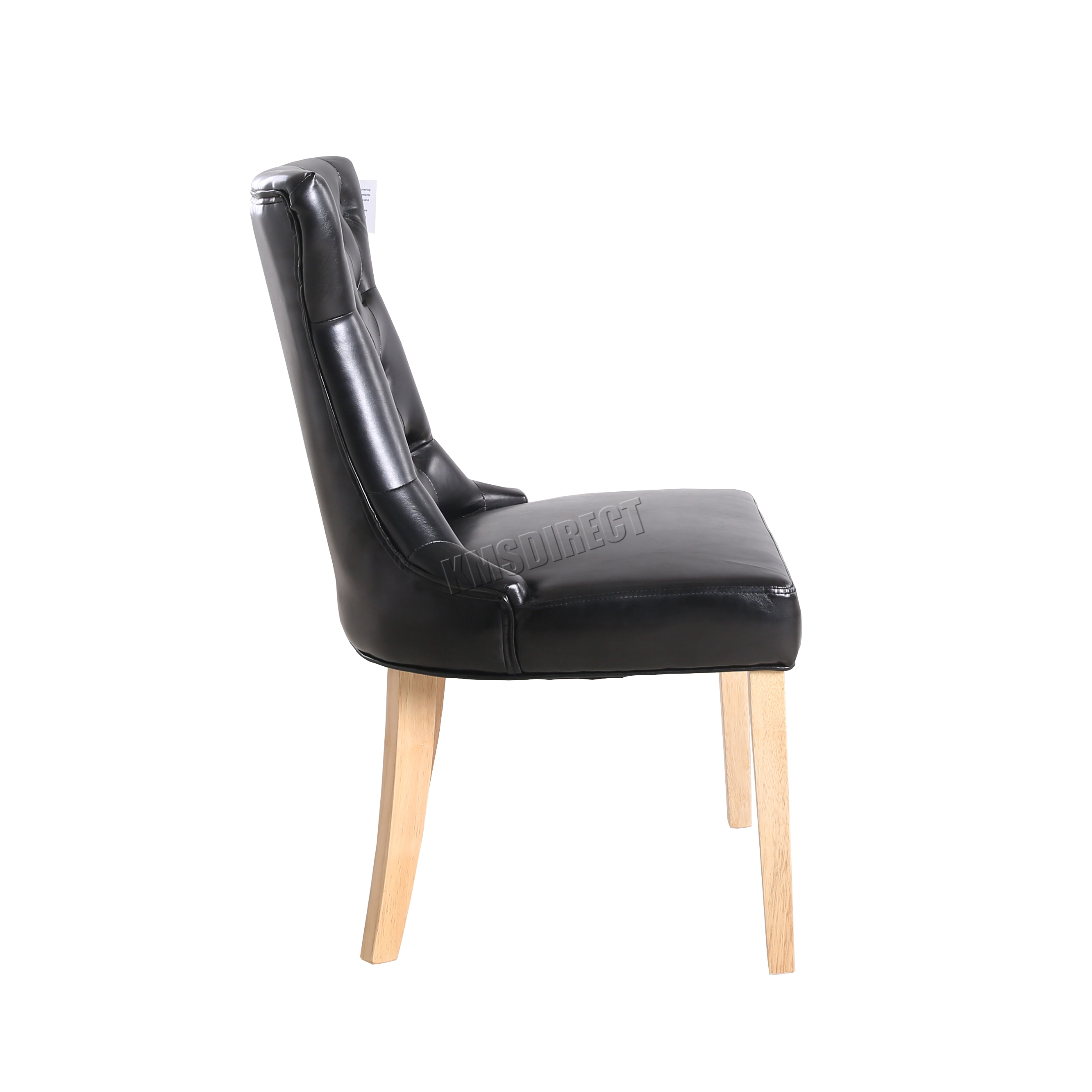 Foxhunter Pu Dining Chair Scoop Button Back Office Lounge