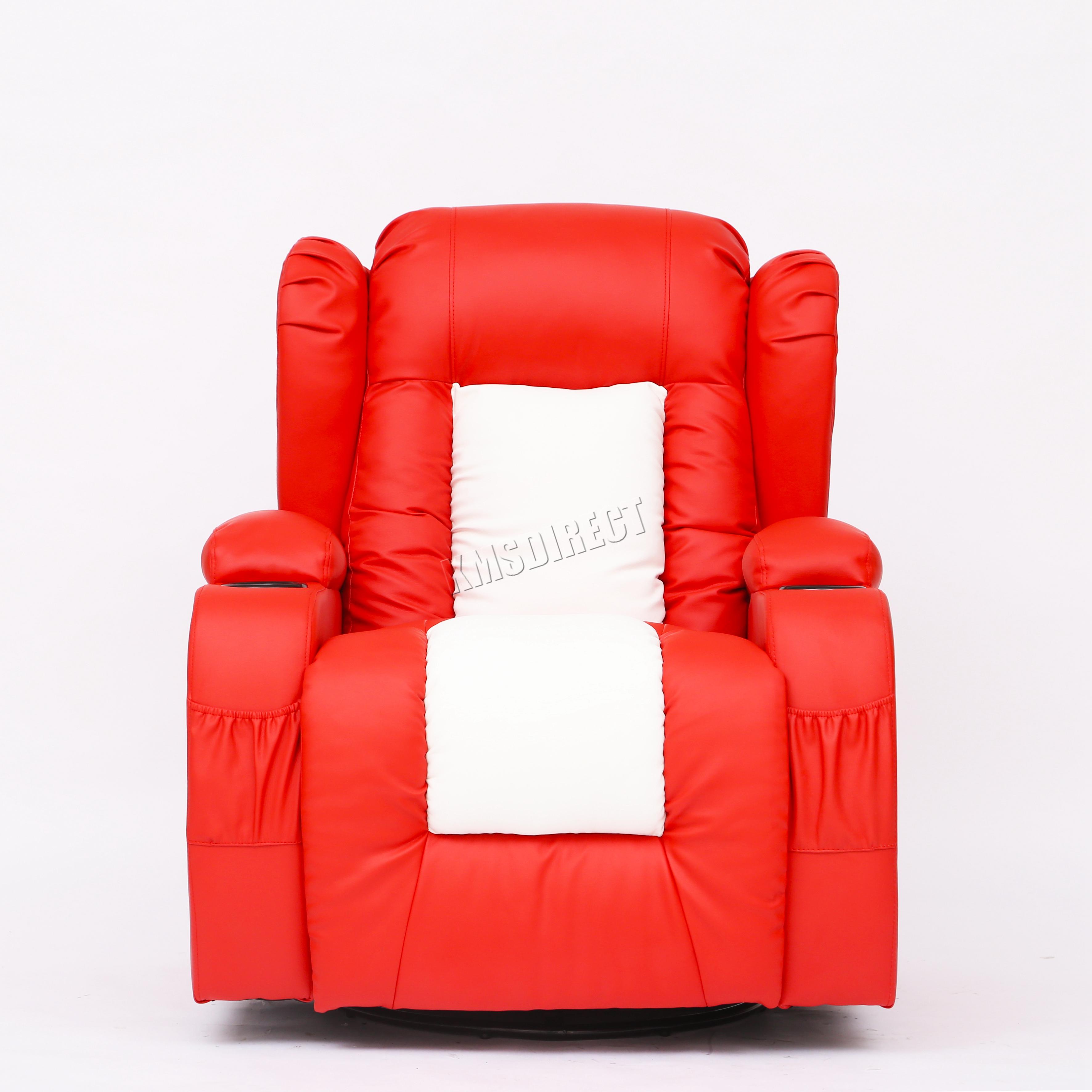 Riparo in pelle cinema massaggio divano reclinabile sedia for Divano a dondolo