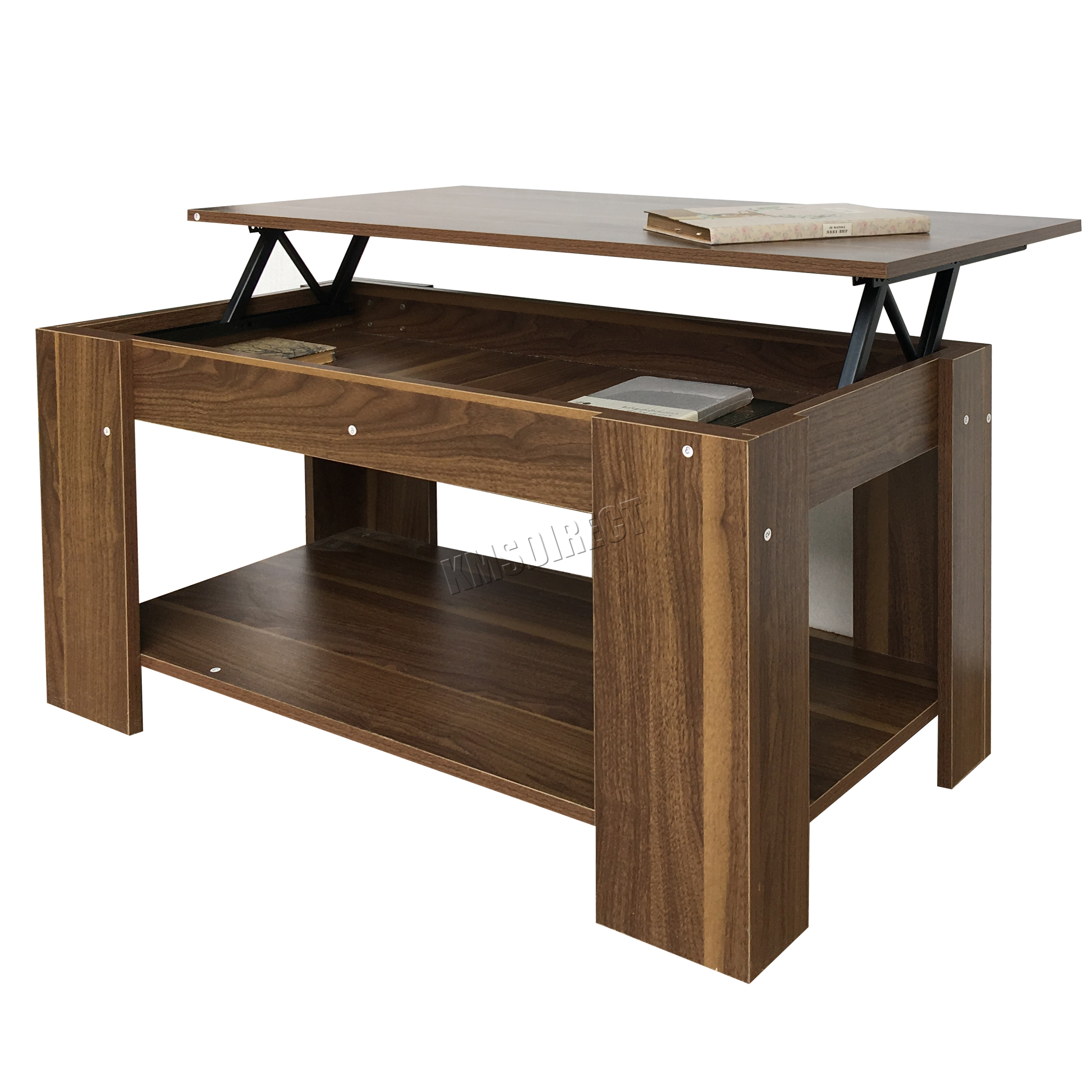 Foxhunter Lift Up Top Coffee Table With Storage Shelf Living Room Ct01 Walnut Ebay