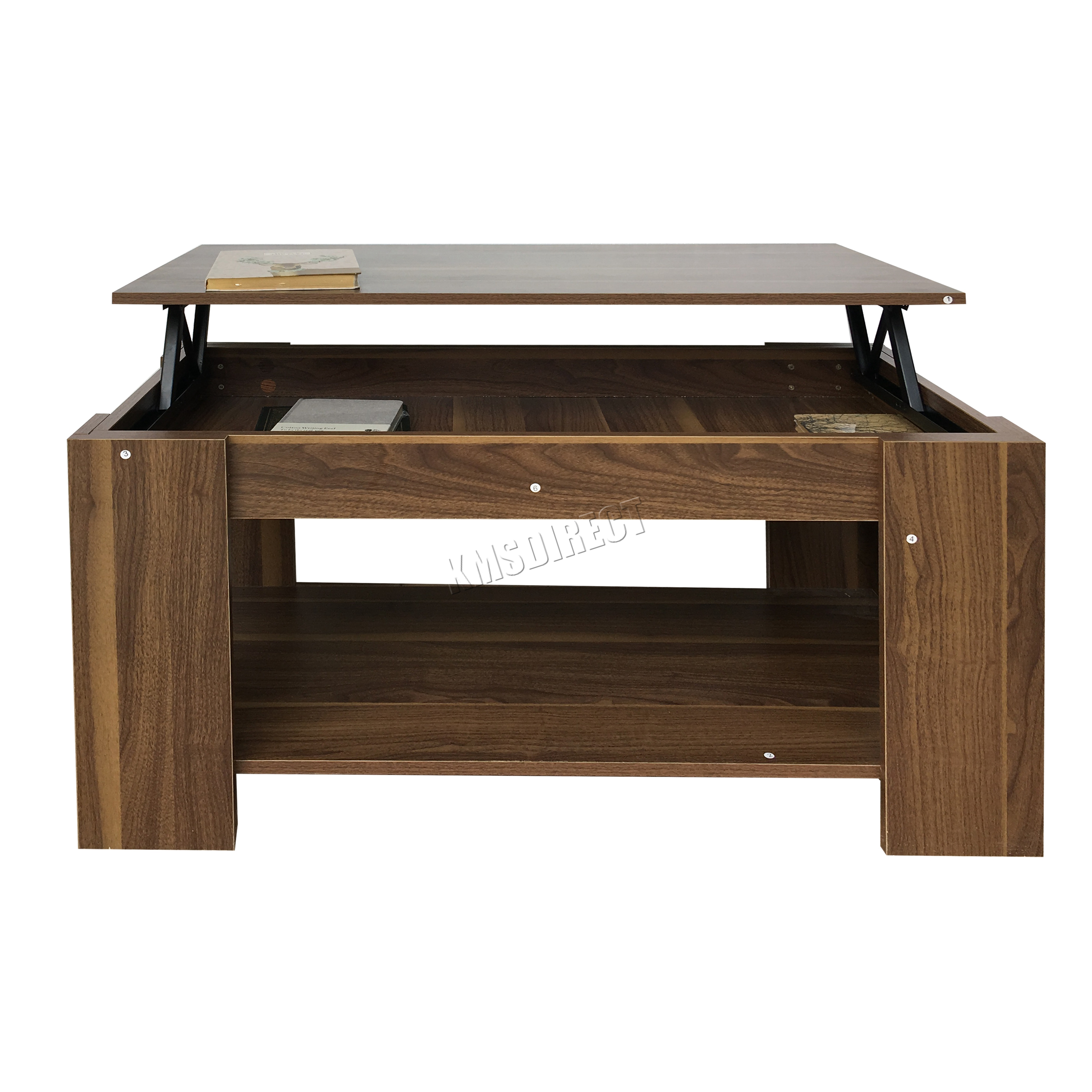 Foxhunter lift up top coffee table mdf with storage and for Coffee tables that lift up